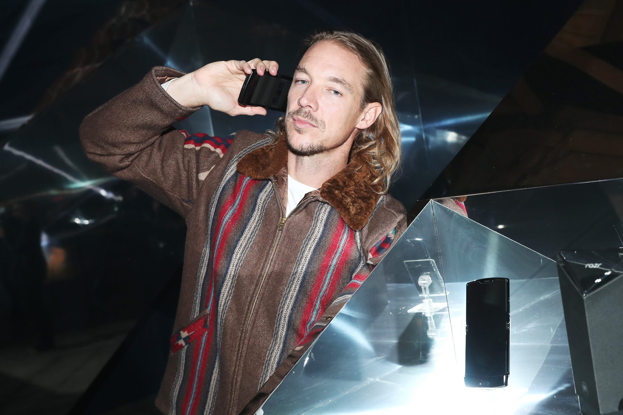 Diplo attends the unveiling of the razr as a reinvented icon in Los Angeles at The Container Yard on November 13, 2019 in Los Angeles, California