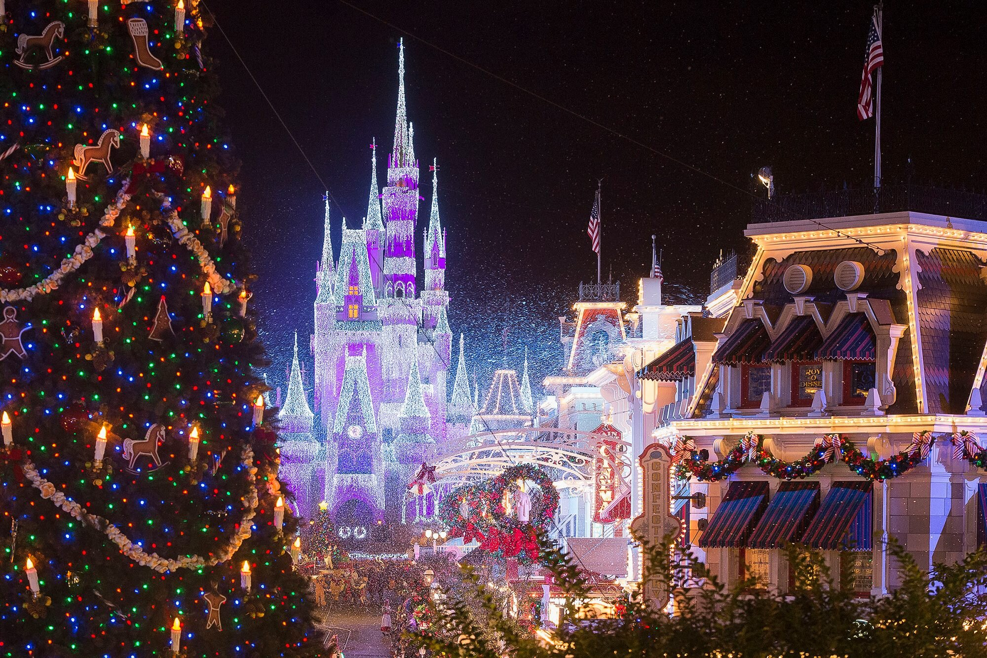 For 2021 When Will Disneyland Change From Halloween To Christmas Disneyland Landscaping For The Holiday Season People Com