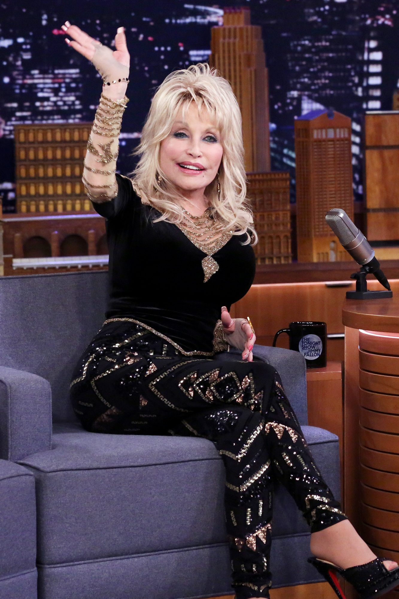 Dolly Parton during an interview on THE TONIGHT SHOW STARRING JIMMY FALLON November 20, 2019