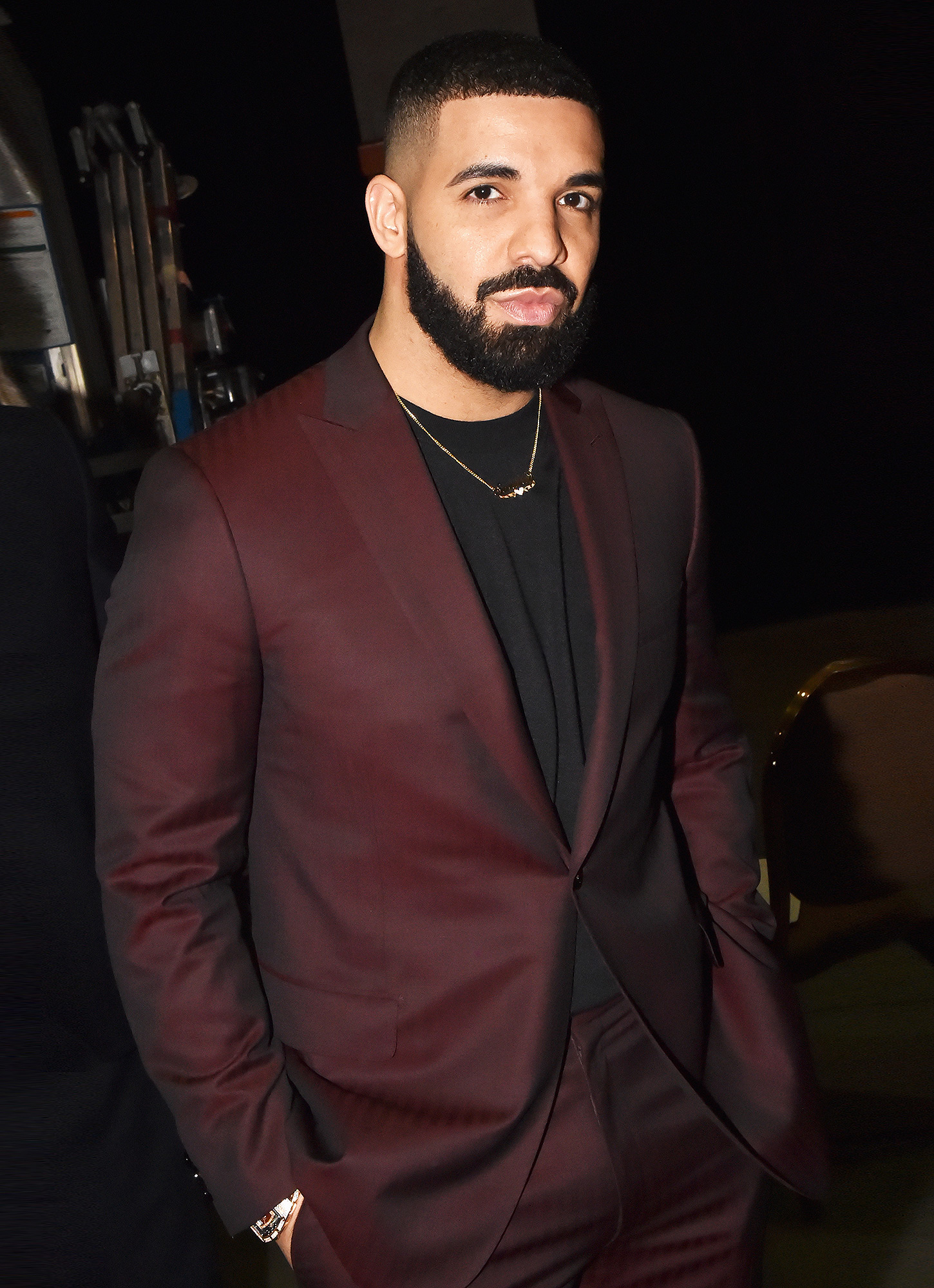 Drake is seen backstage during the 2019 Billboard Music Awards
