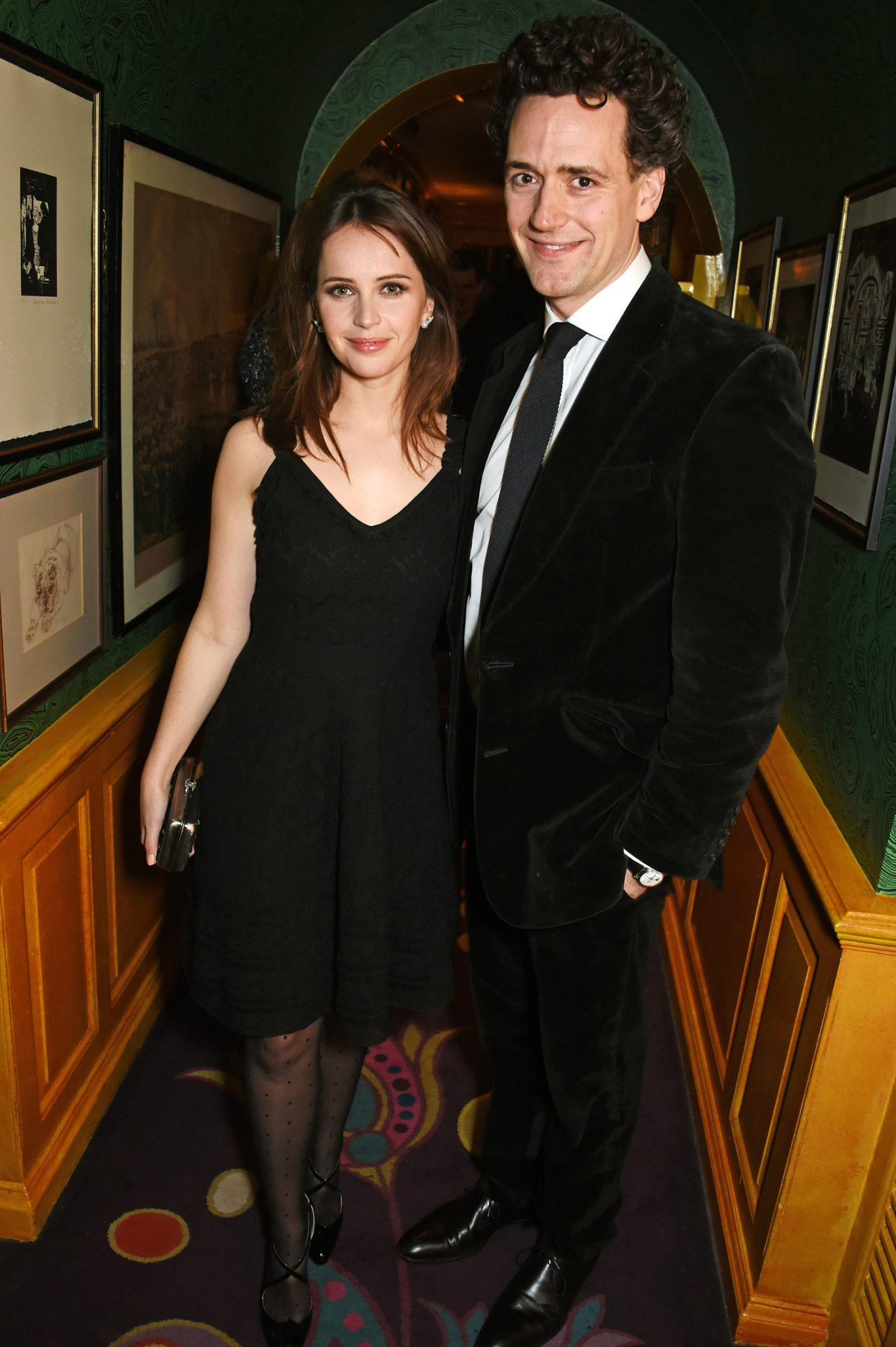 Felicity Jones (L) and Charles Guard