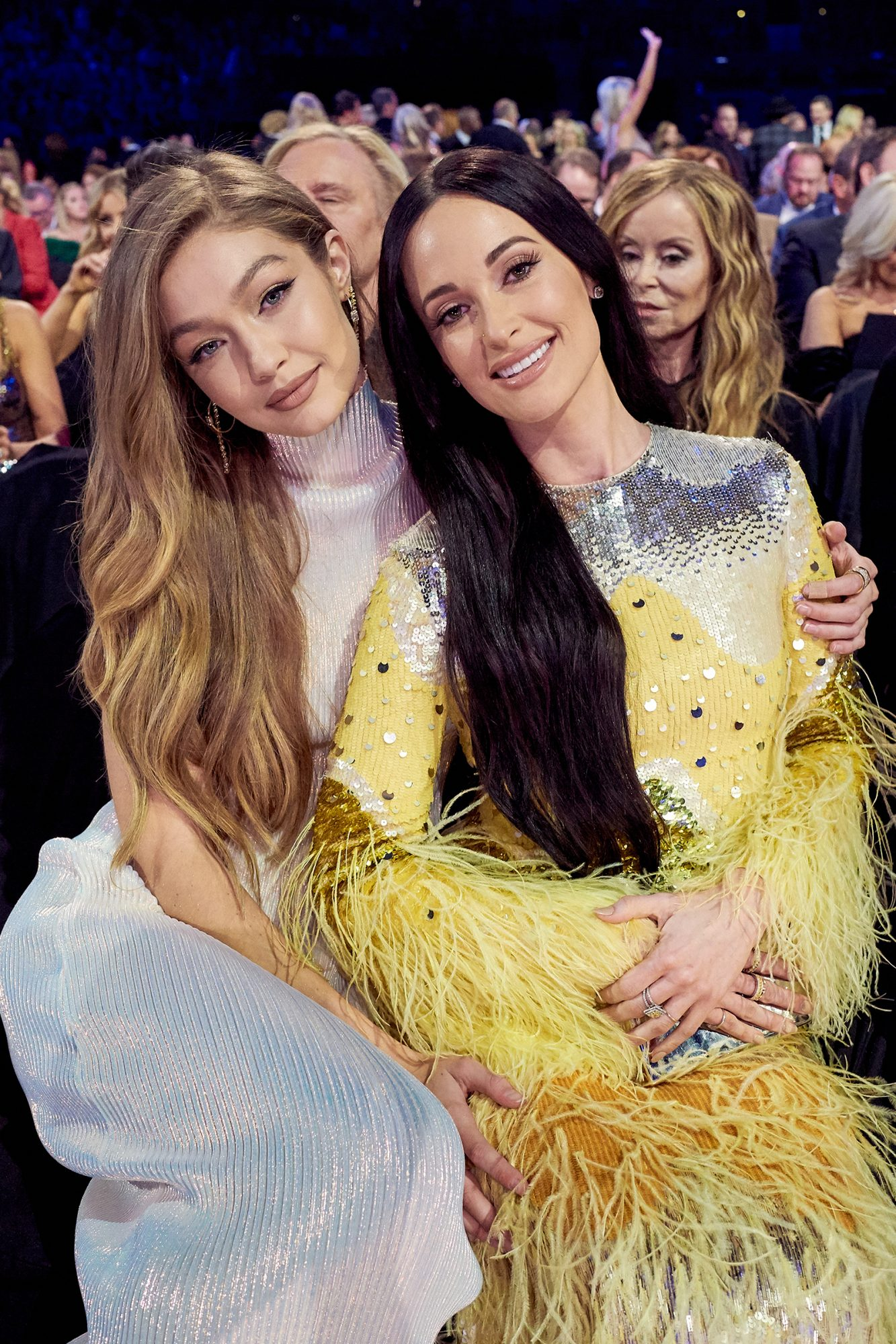 Gigi Hadid and Kacey Musgraves attend the 53rd annual CMA Awards at the Bridgestone Arena on November 13, 2019 in Nashville, Tennessee