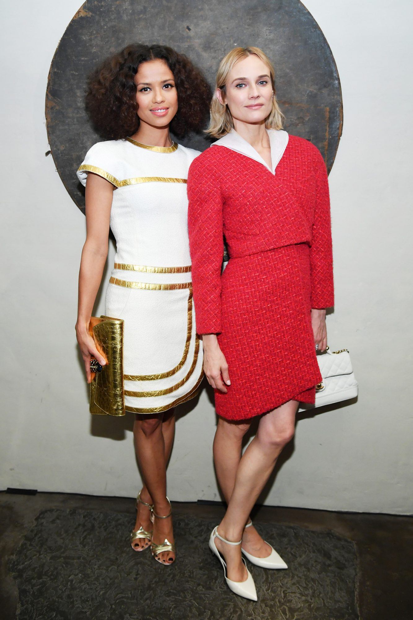 Gugu Mbatha-Raw and Diane Kruger attends Through Her Lens: The Tribeca CHANEL Women's Filmmaker Program Cocktail at Greenwich Hotel Penthouse on November 06, 2019