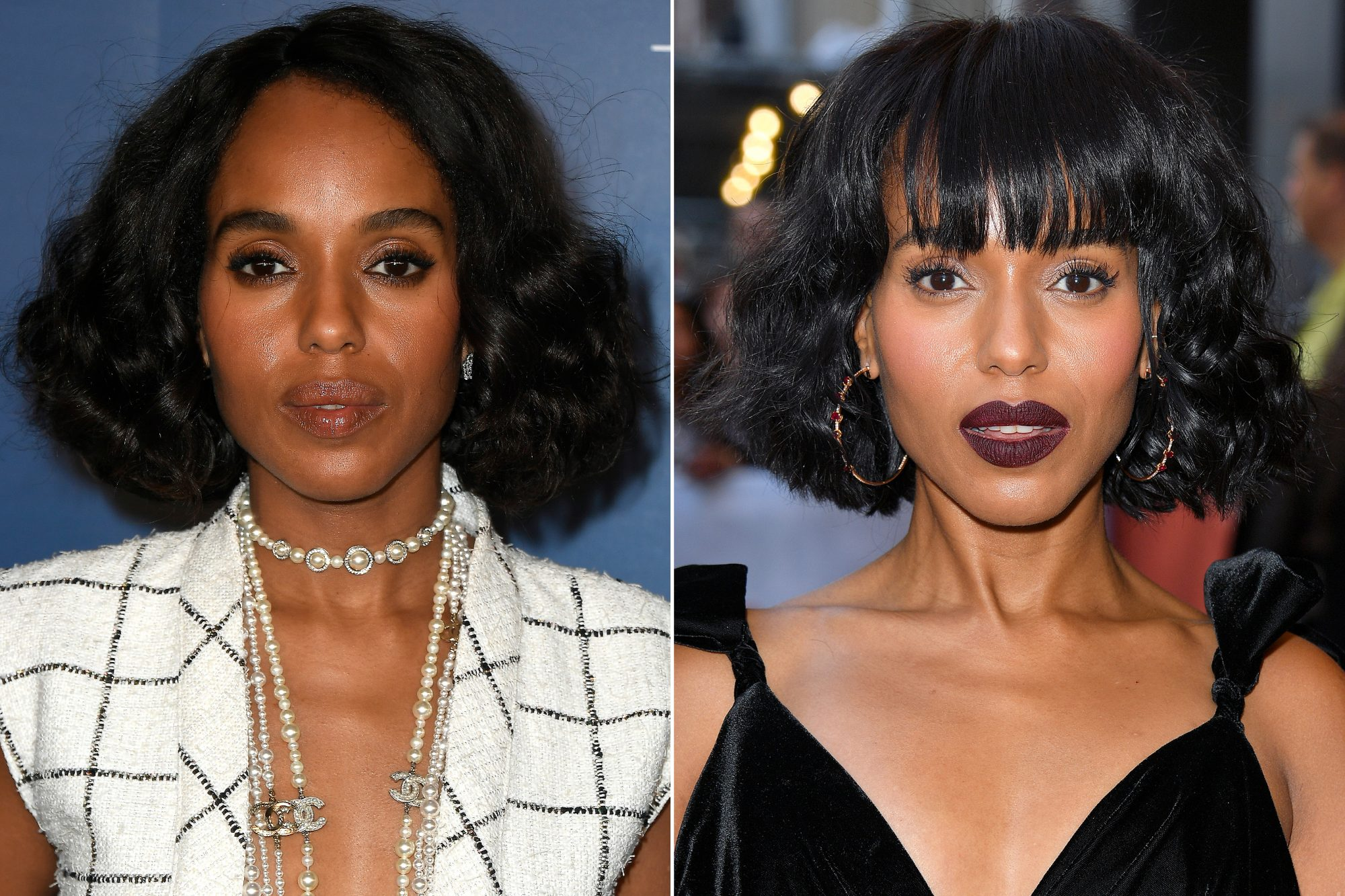 hair changes Kerry Washington