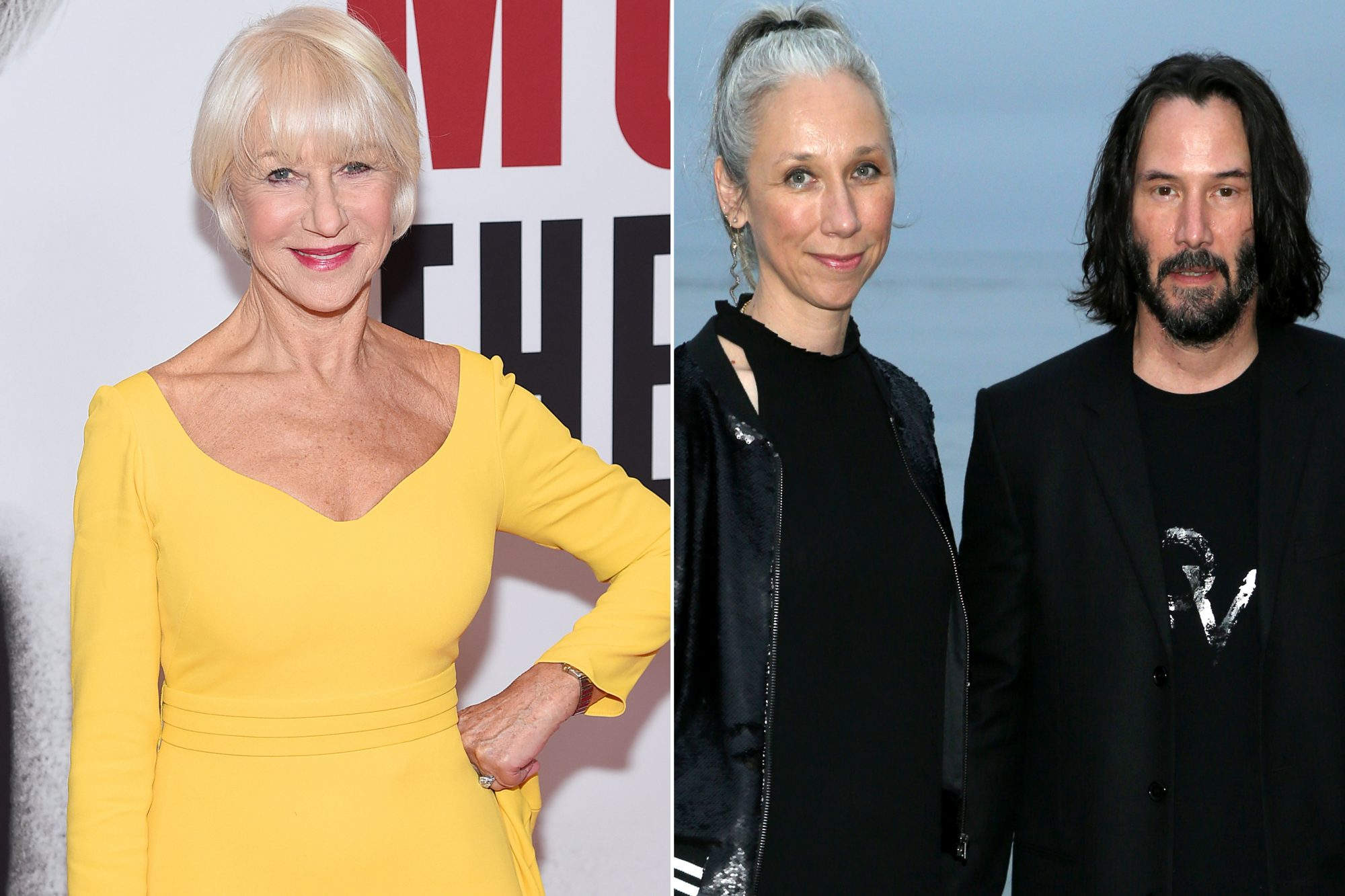 Helen Mirren, Alexandra Grant and Keanu Reeves