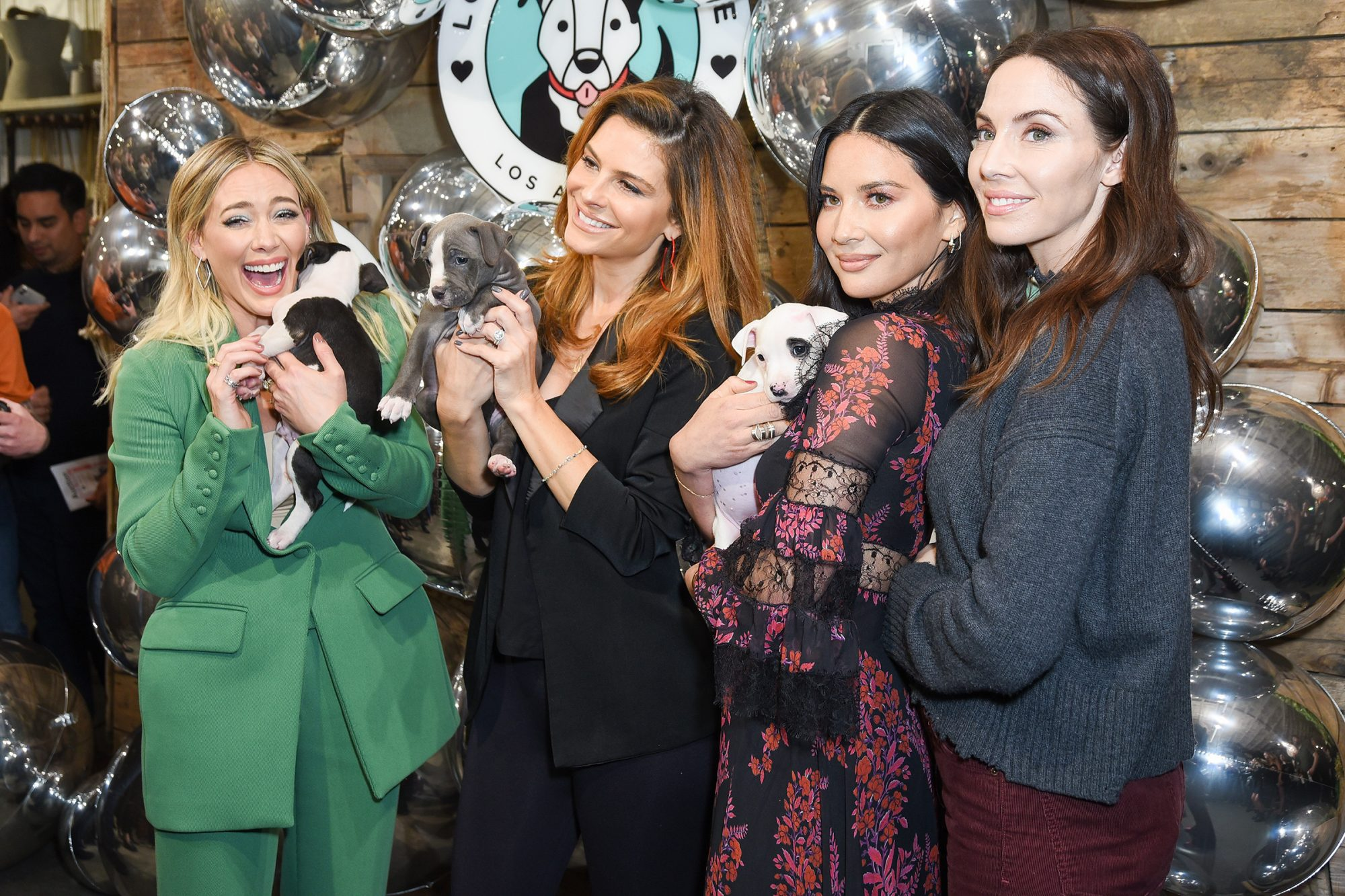 Victoria Justice, Hilary Duff, Whitney Cummings, Maria Menounos and Olivia Munn attends Love Leo Rescue's 2nd Annual Cocktails for a Cause at Rolling Greens Los Angeles on November 06, 2019 in Los Angeles