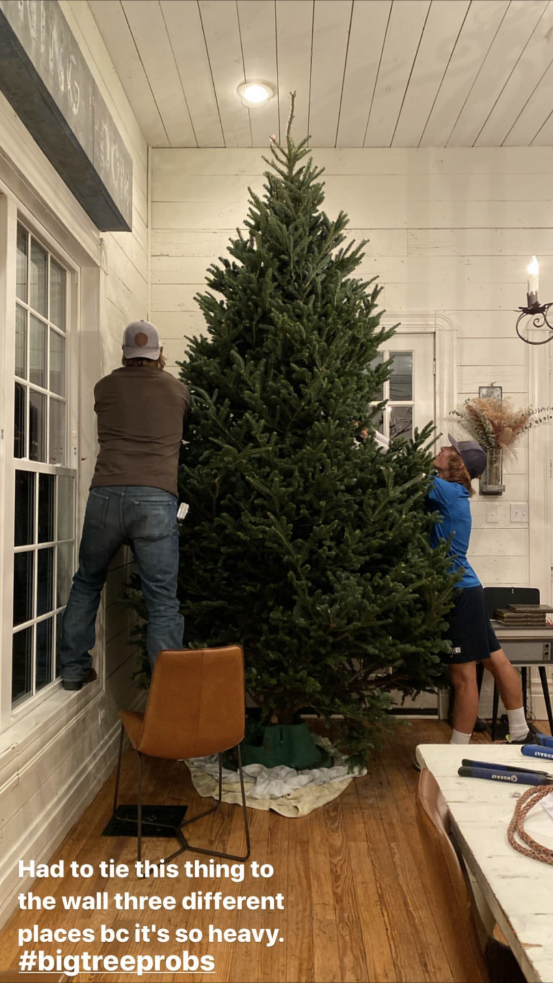Chip Gaines Needed a John Deere Tractor to Lift Giant Christmas Tree on Truck