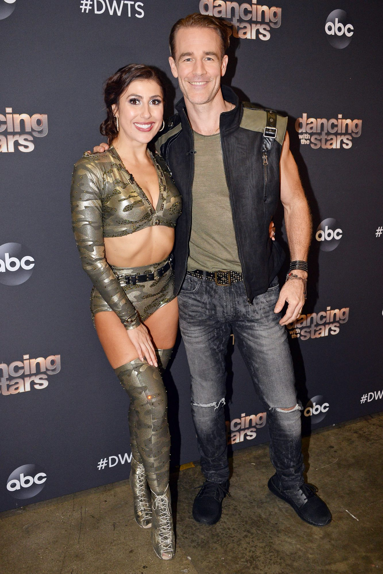 "DANCING WITH THE STARS - ""Boy Band & Girl Group Night"" - Six celebrity and pro-dancer couples return to the ballroom to compete on the ninth week of the 2019 season of ""Dancing with the Stars,"" live, MONDAY, NOV. 11 (8:00-10:00 p.m. EST), on ABC. (Eric McCandless/ABC via Getty Images) EMMA SLATER, JAMES VAN DER BEEK"