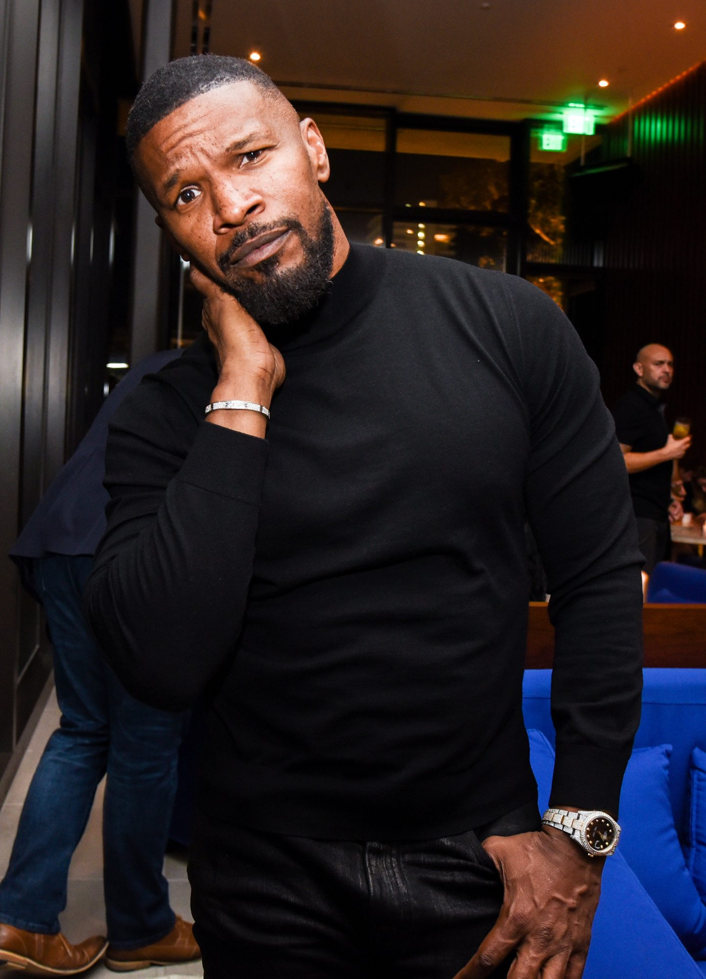 Jamie Foxx attends The West Hollywood EDITION Opening Week: featuring James Murphy and Susanne Bartsch at the Sunset at The West Hollywood EDI, West Hollywood, CA on November 16, 2019