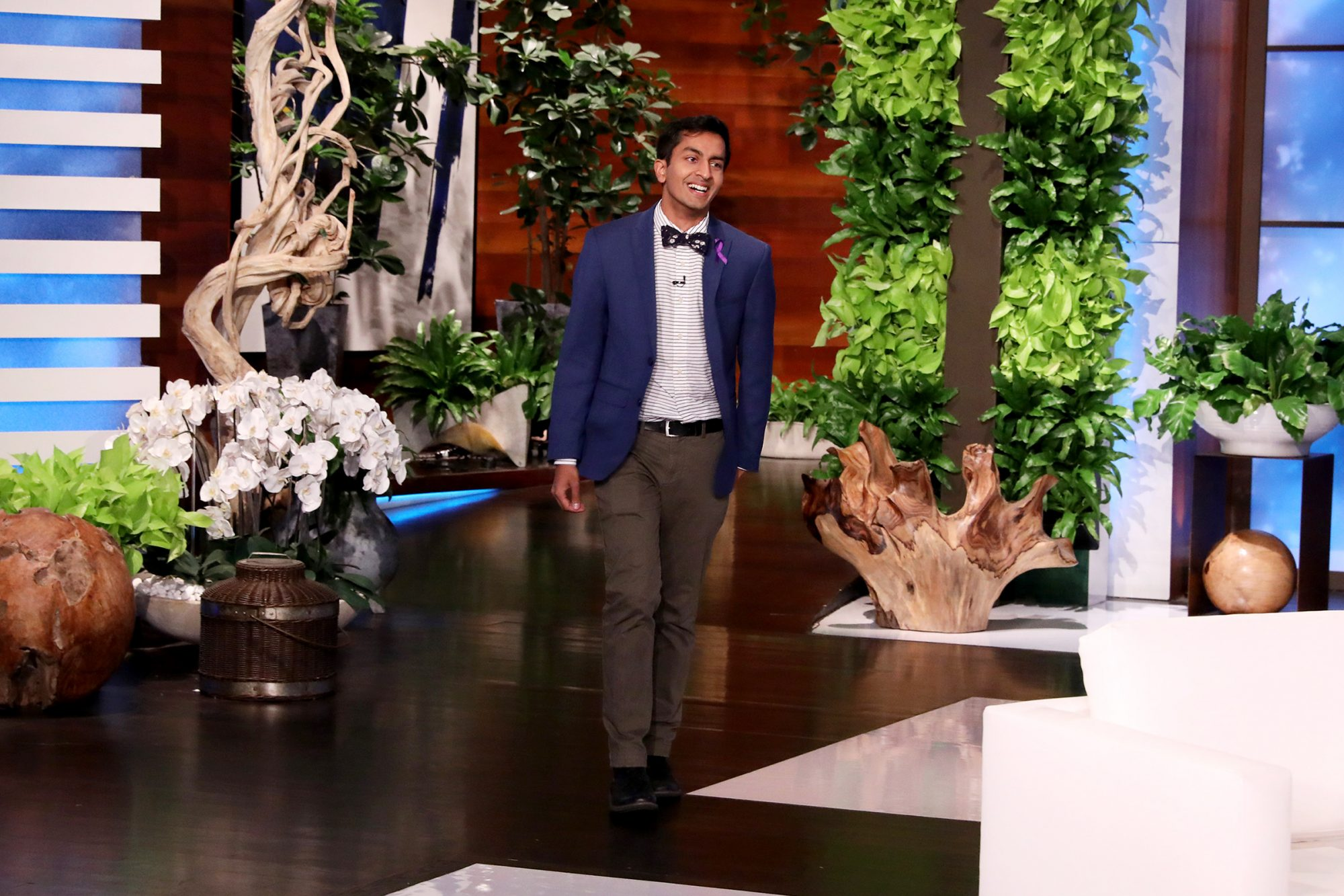 """Jeopardy!"" contestant Dhruv Gaur from Gainesville, GA stops by ""The Ellen DeGeneres Show"" on Thursday, November 14th for his first appearance after making the beloved quiz show host, Alex Trebek, emotional on Monday night's episode, which went viral."