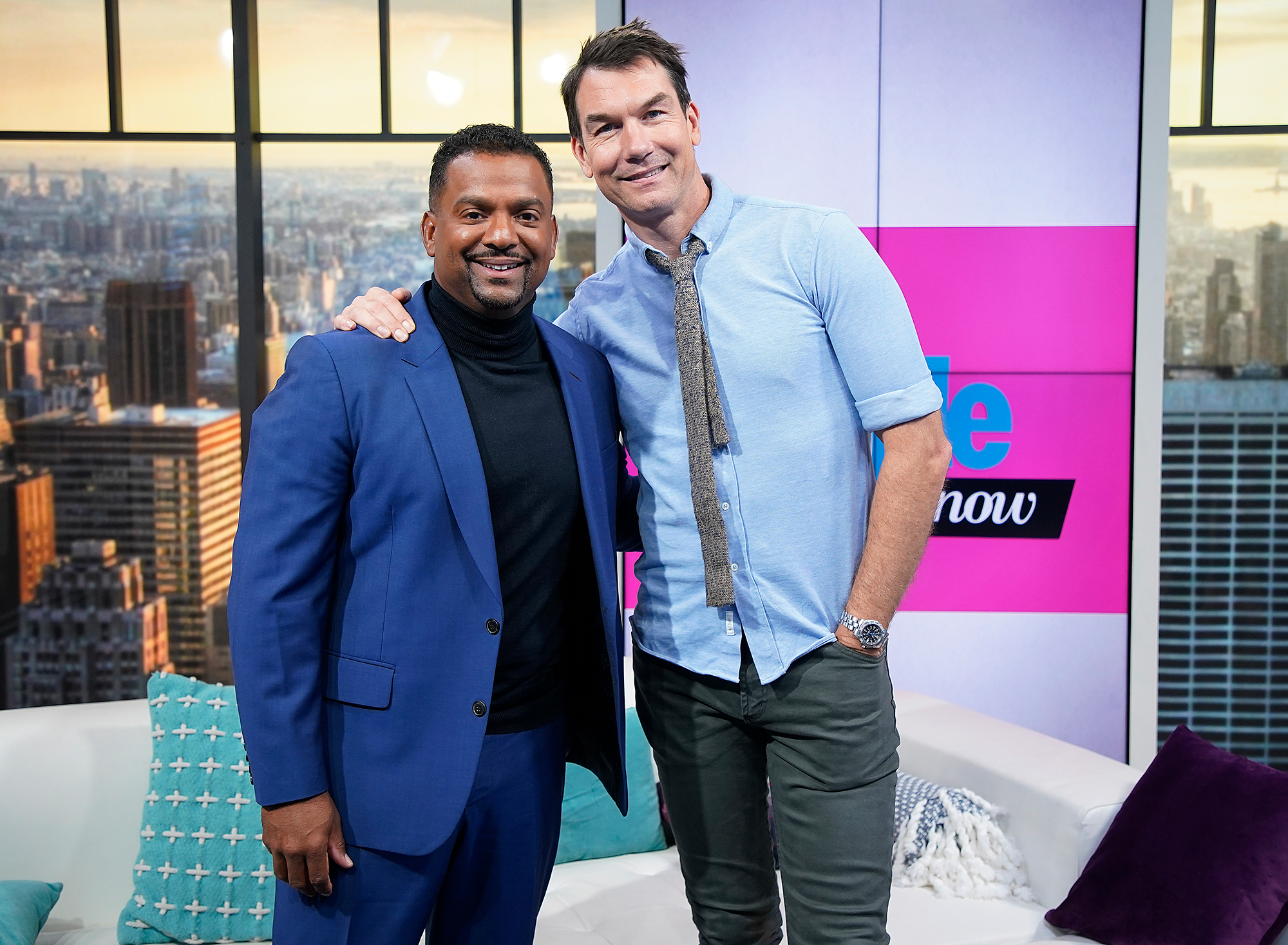 Alfonso Ribeiro and Jerry O'Connell visit People Now Studios on Novemb