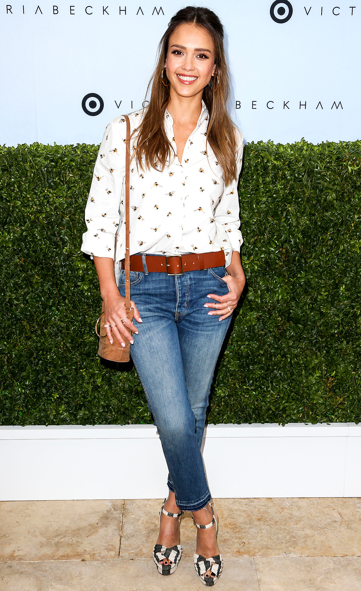 Jessica Alba arrives at the Victoria Beckham For Target Launch Event