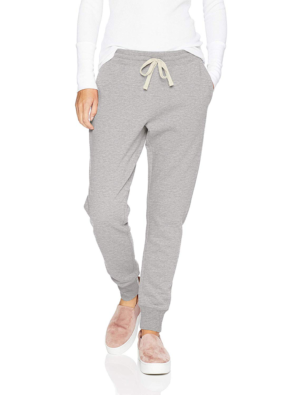 Amazon Essentials Women's French Terry Fleece Jogger Sweatpant on Amazon