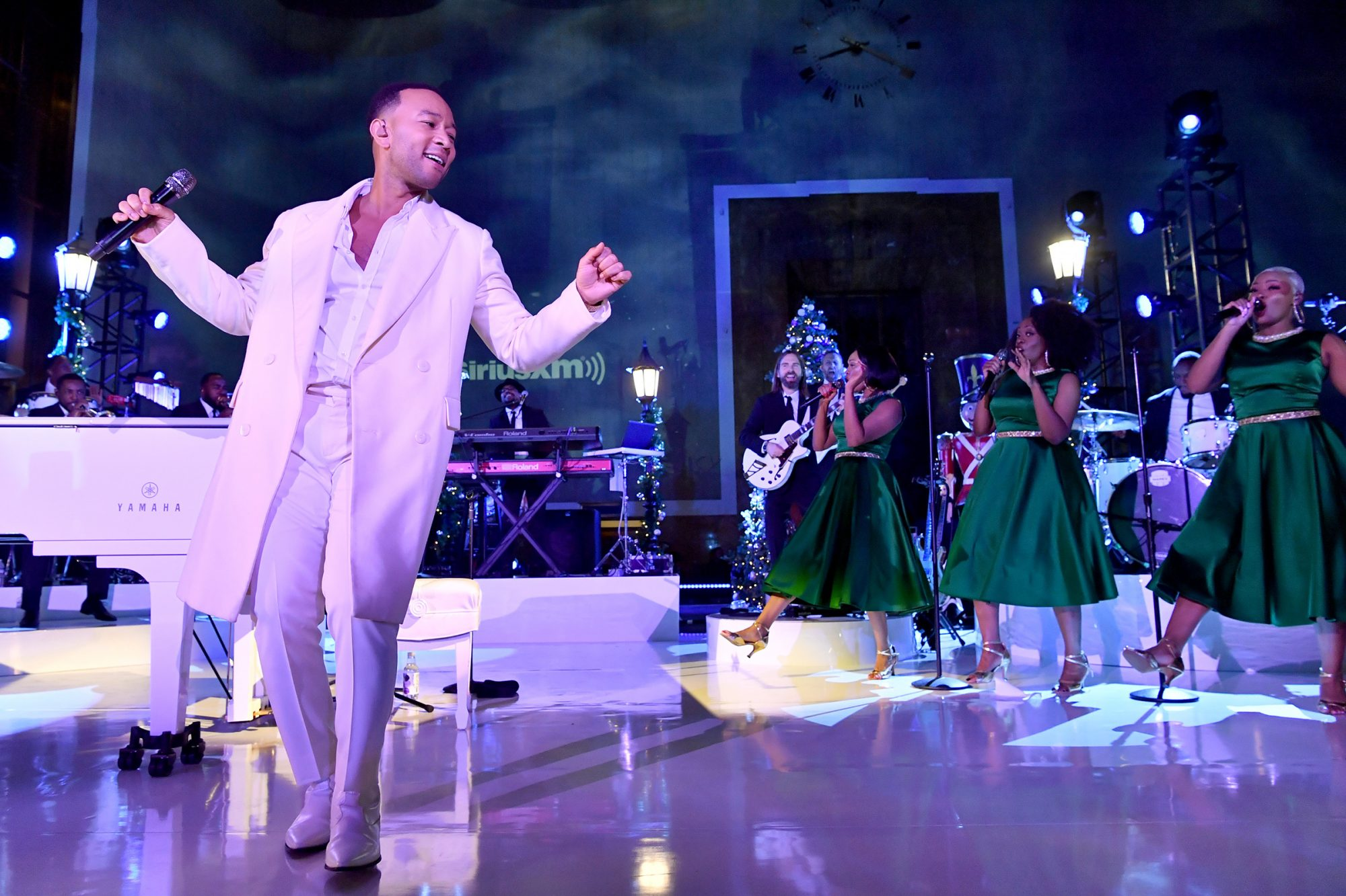 John Legend spreads holiday cheer at the historic Union Station on November 19, 2019 in Los Angeles, CA