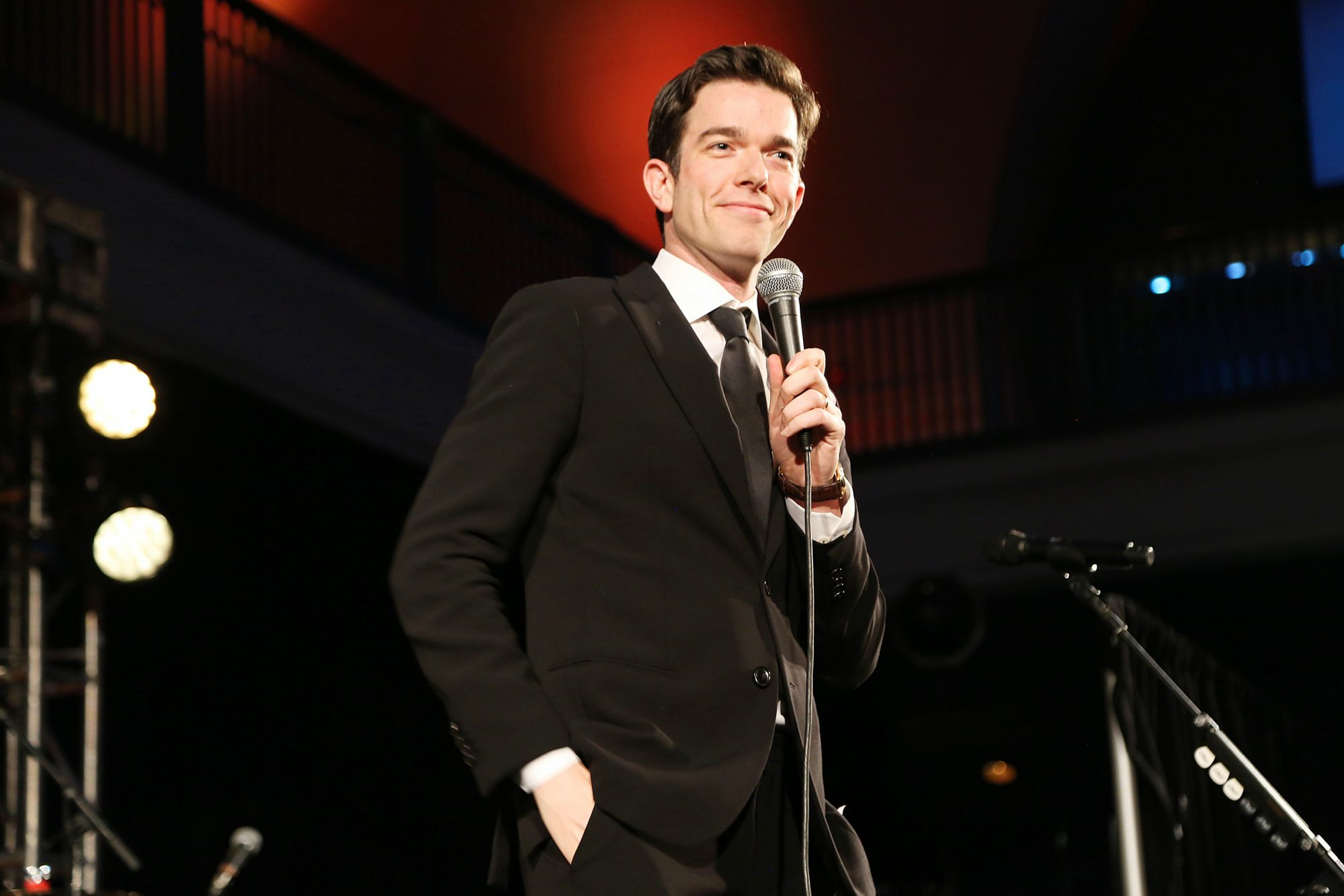 John Mulaney speaks onstage during The American Museum of Natural History's 2019 Museum Gala at American Museum of Natural History on November 21, 2019 in New York City