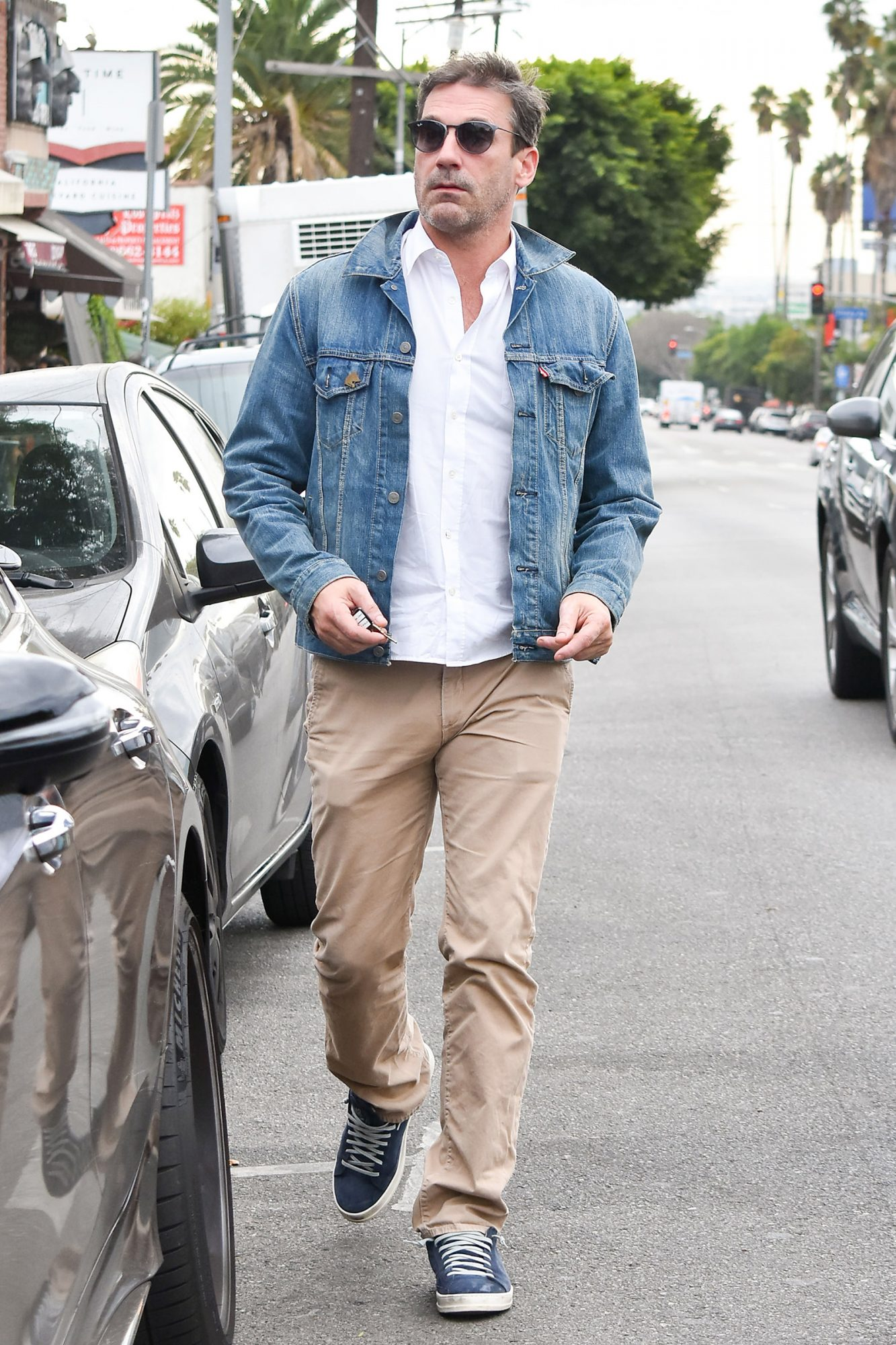 Jon Hamm is seen on November 19, 2019 in Los Angeles, California