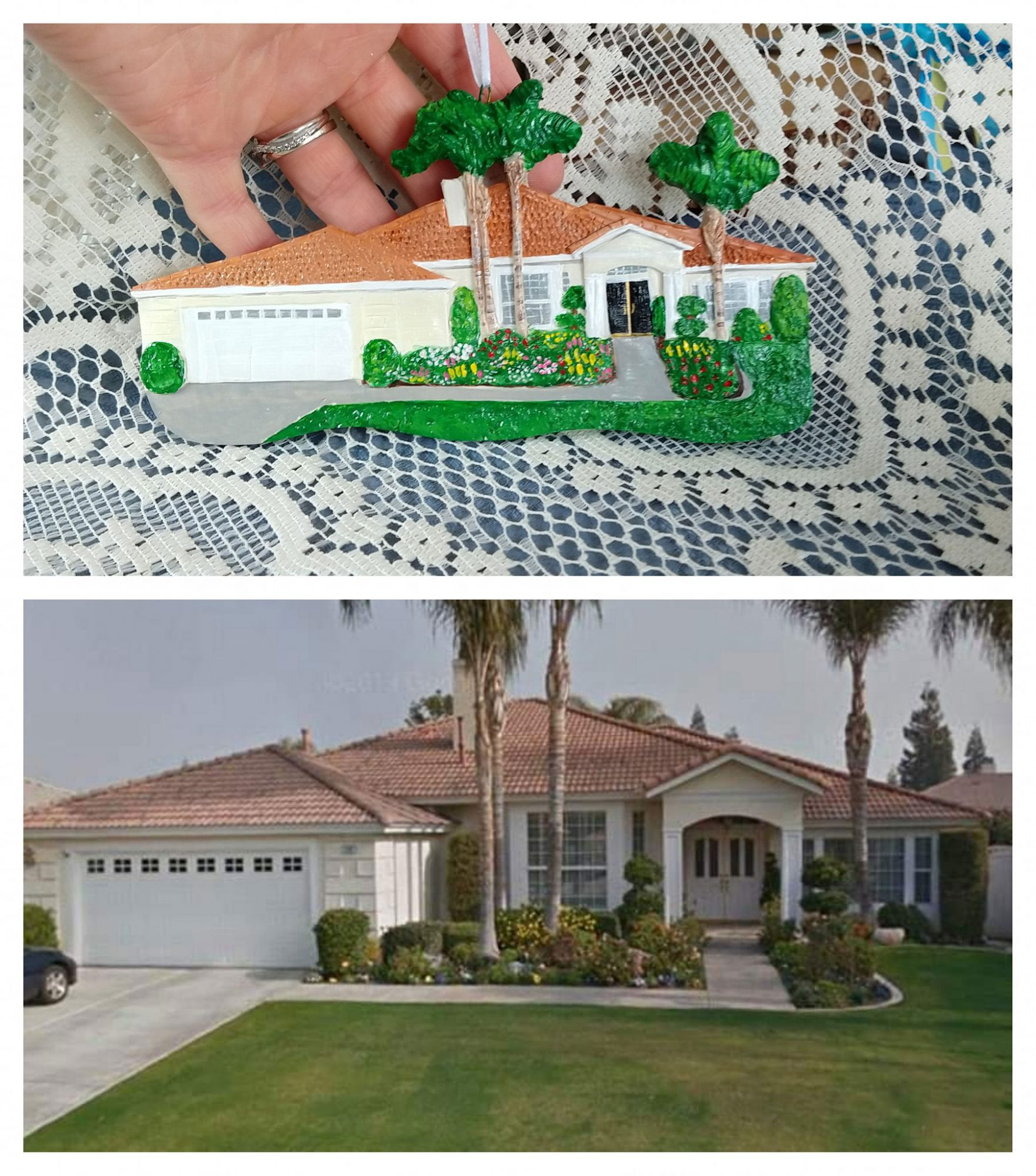 Etsy Shop Sells Christmas Ornaments that Are Mini Replicas of Homes