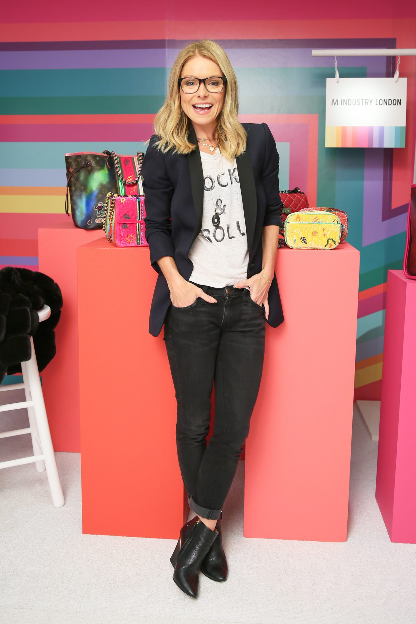 Kelly Ripa attends LTD by Lizzie Tisch: Holiday Shopping Event, Loews Regency New York, NYC on November 11, 2019