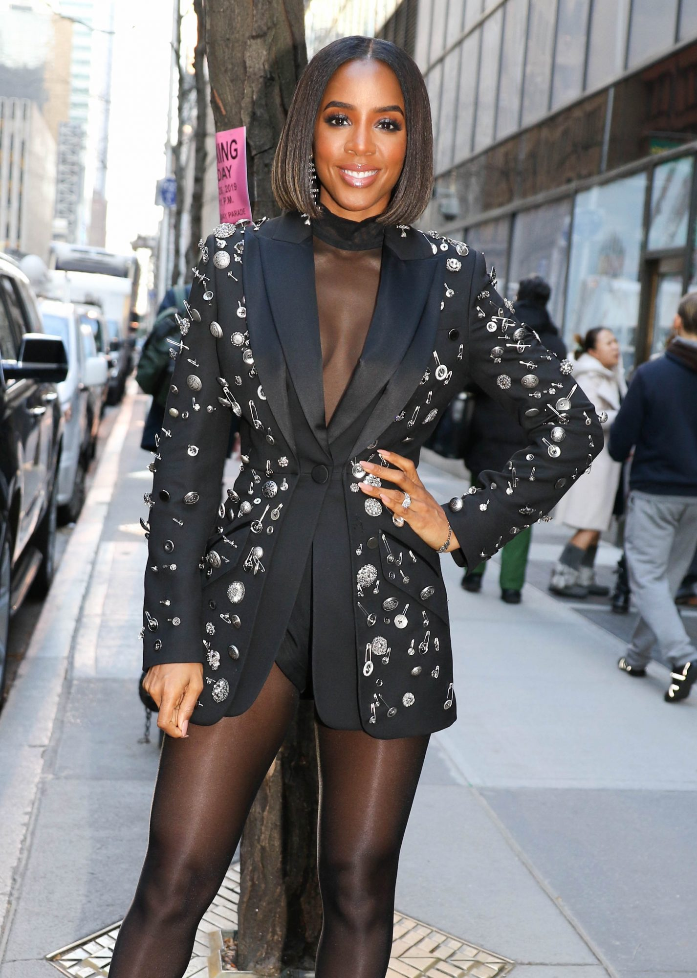 """Kelly Rowland At The """"Today"""" Show In NYC"""