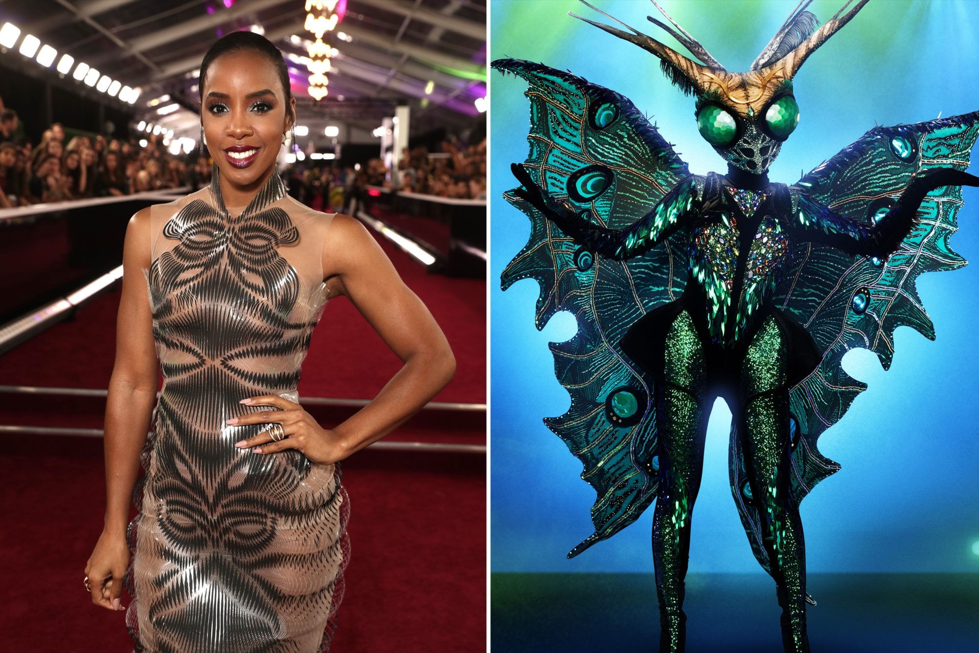 Kelly Rowland and Butterfly masked singer