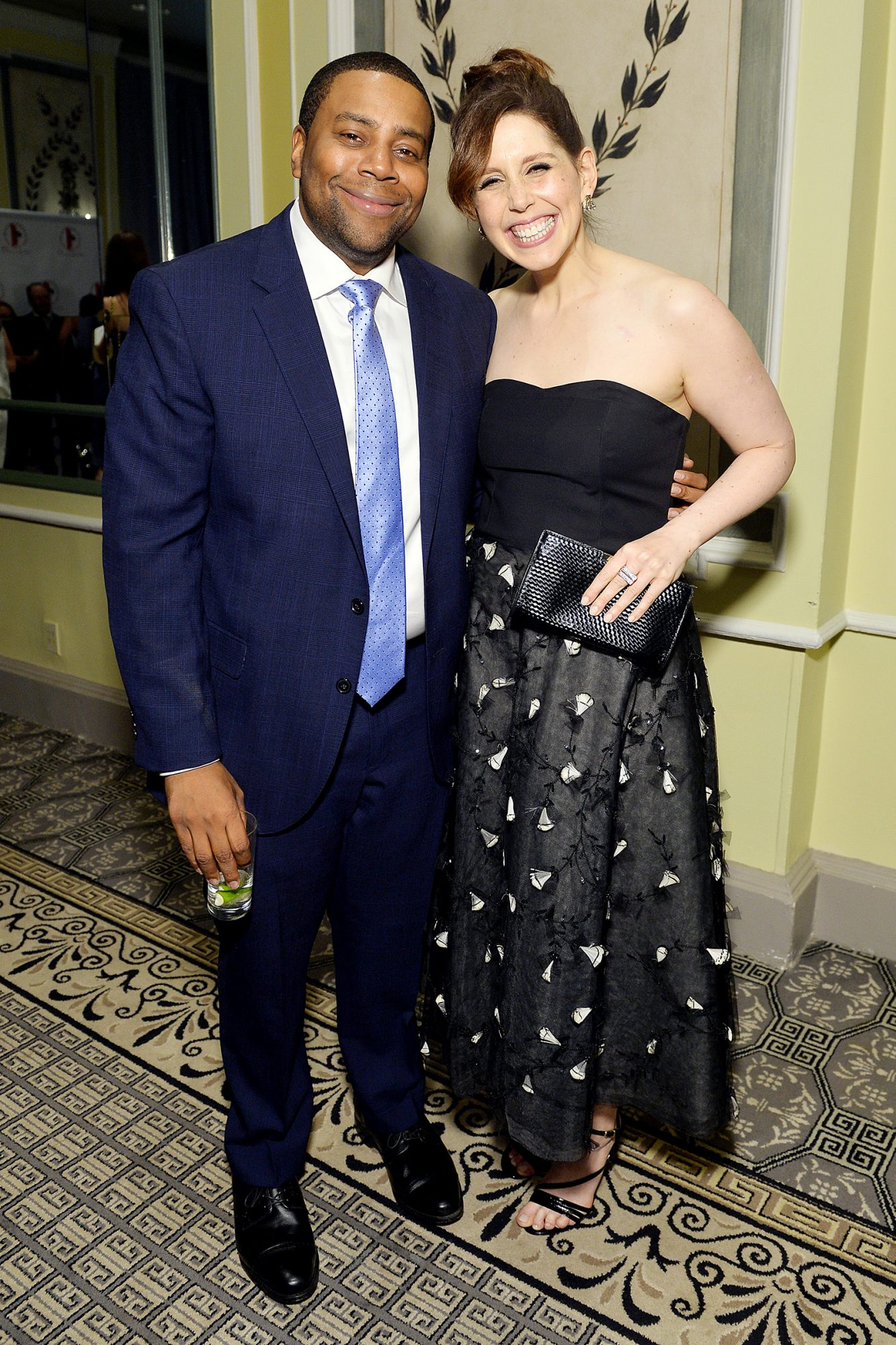 Kenan Thompson (L) and Vanessa Bayer attend the Gilda's Club NYC 24th Annual Gala at The Pierre Hotel on November 07, 2019 in New York City