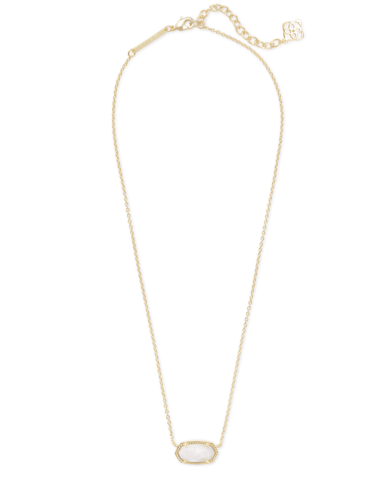 kendra scott elisa necklace gold with mother of pearl stone