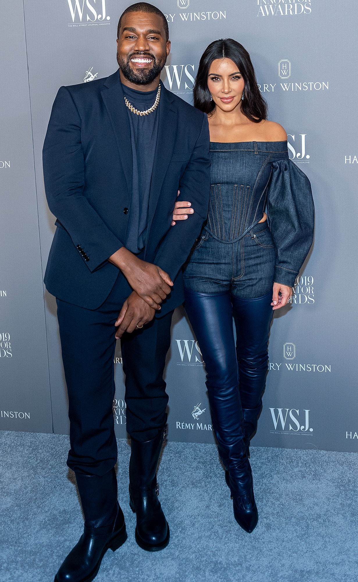 Kanye West and Kim Kardashian attend the WSJ Mag 2019 Innovator Awards