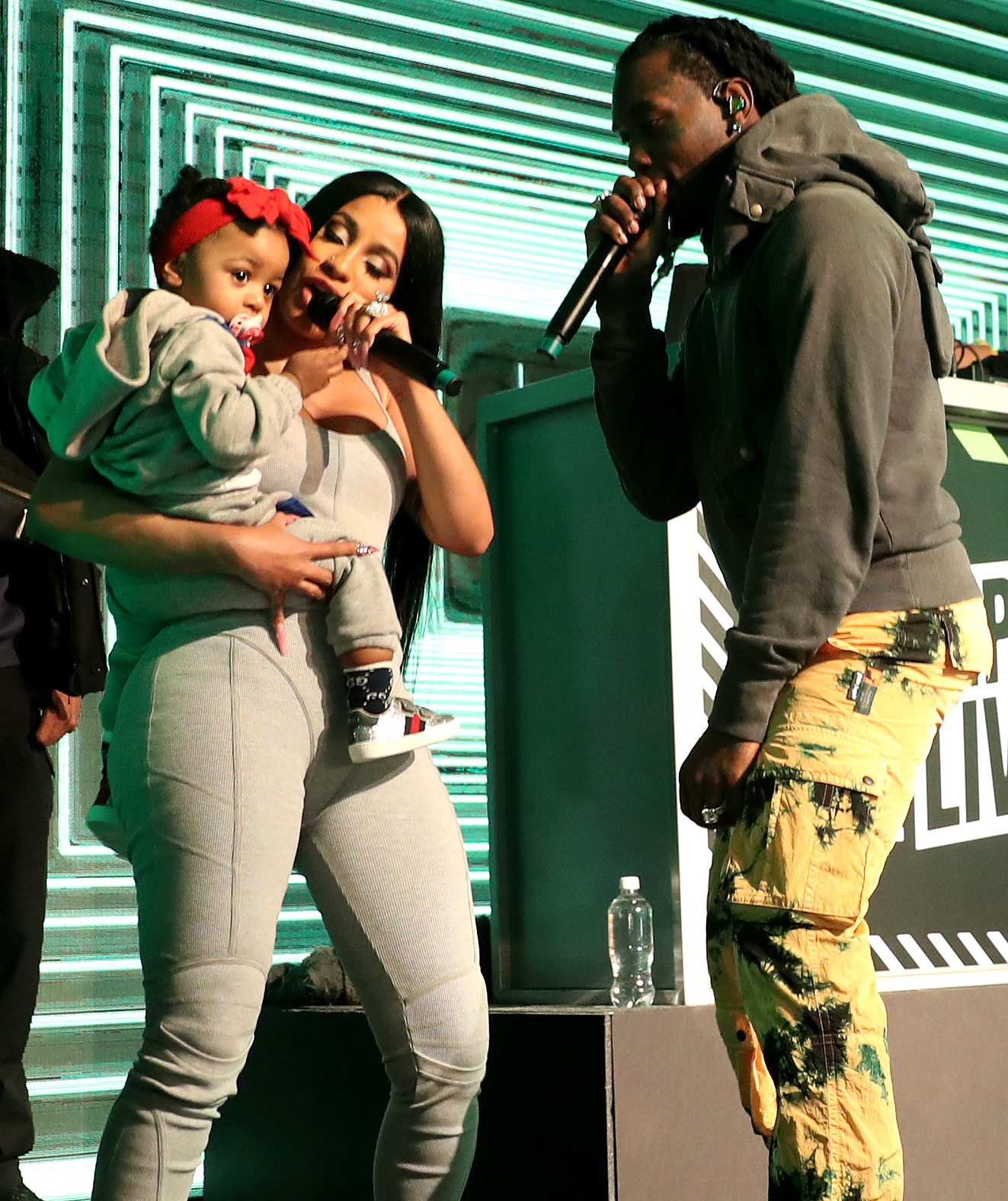 Cardi B with baby Kulture and Offset