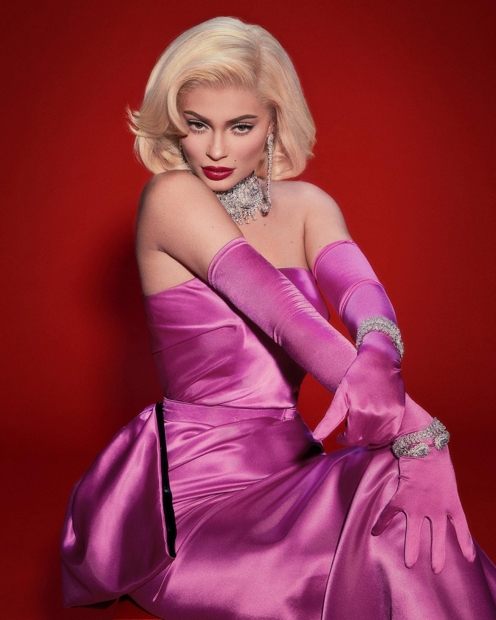 Kylie Jenner as Marilyn Monroe