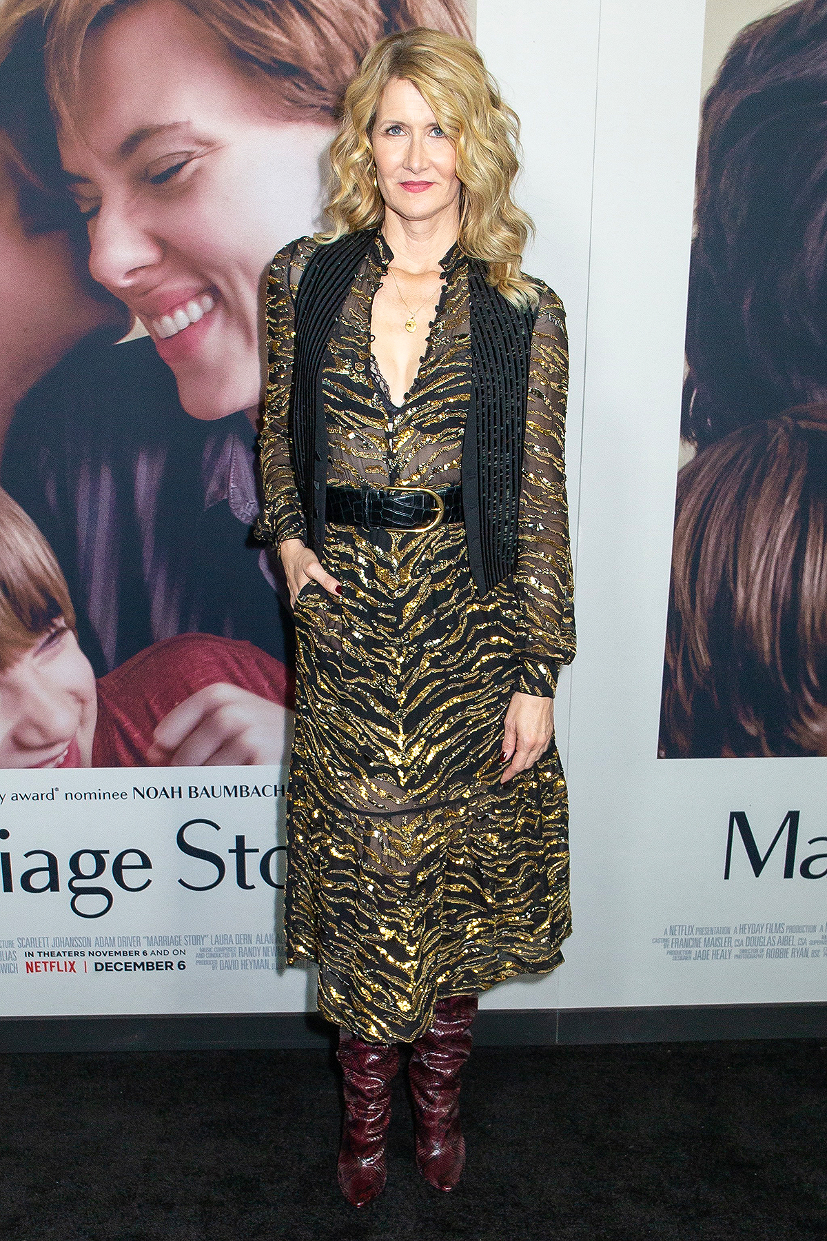 """Laura Dern attends Netflix's """"Marriage Story"""" New York Premiere at Paris Theater"""