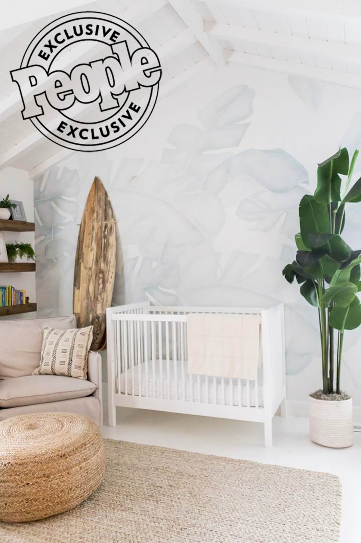 See Lauren Conrad's 'Calm' Nursery for Newborn Son Charlie, Complete with Décor by The Little Market