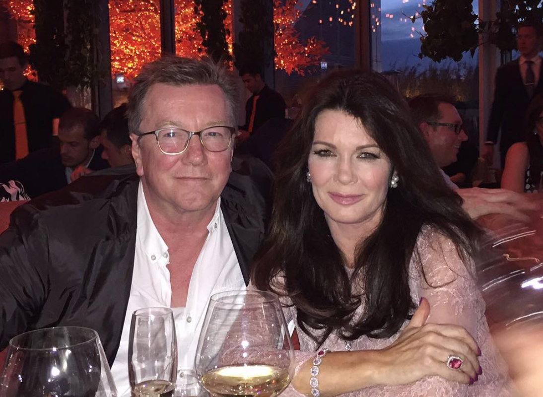 lisa vanderpump and brother at table