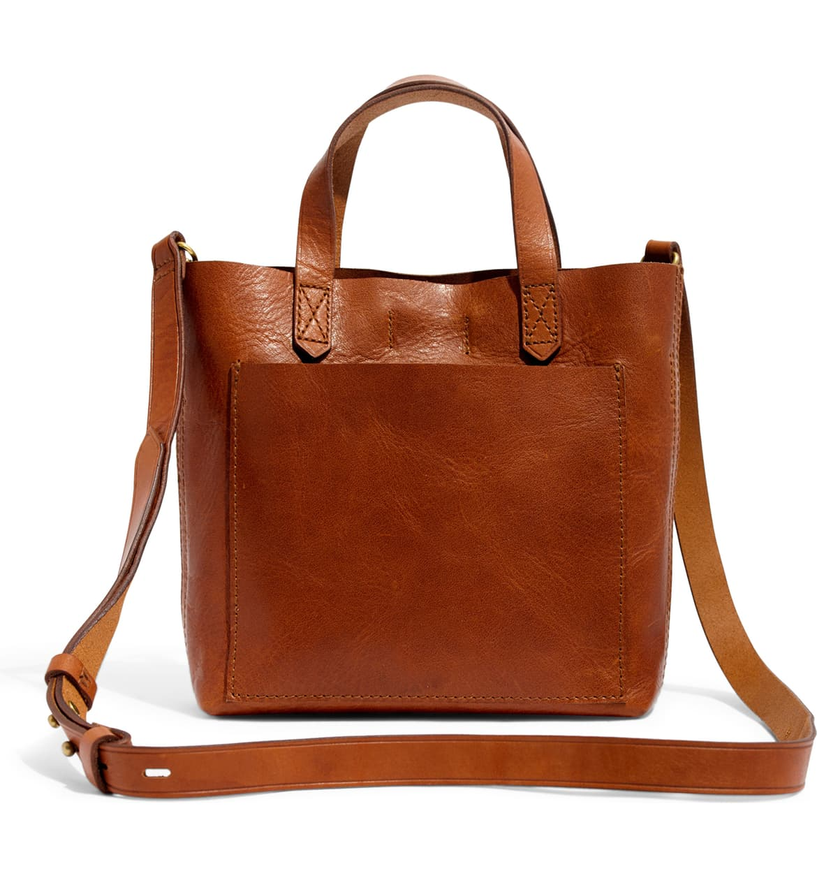 madewell leather transport crossbody bag in brown nordstrom