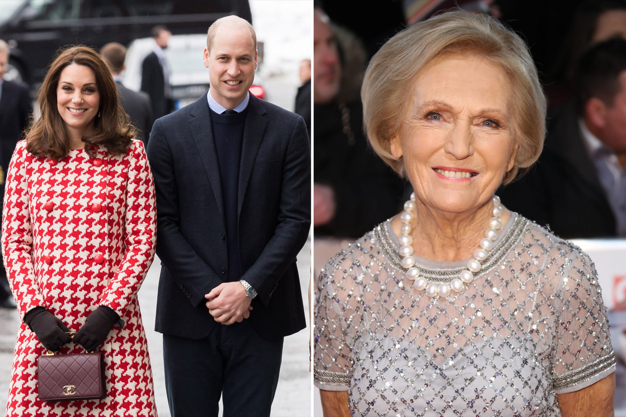 Catherine, Duchess of Cambridge and Prince William, Mary Berry
