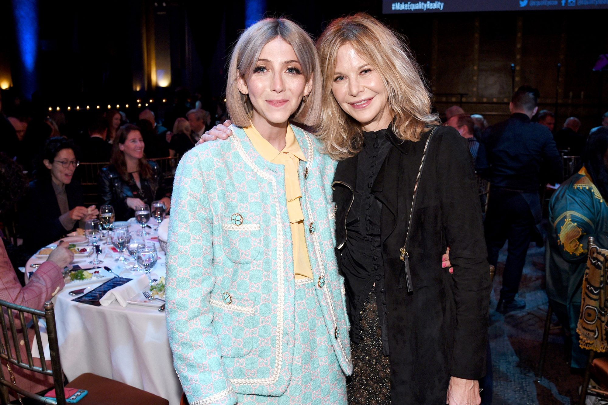 Scarlett Curtis and Meg Ryan attend the annual Make Equality Reality Gala hosted by Equality Now on November 19, 2019 in New York City