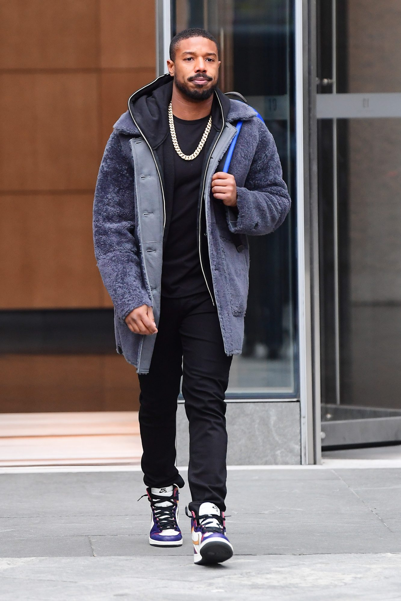 Michael B Jordan Looks Effortlessly Stylish as he Leaves a Coach Photoshoot at Hudson Yards in NYC