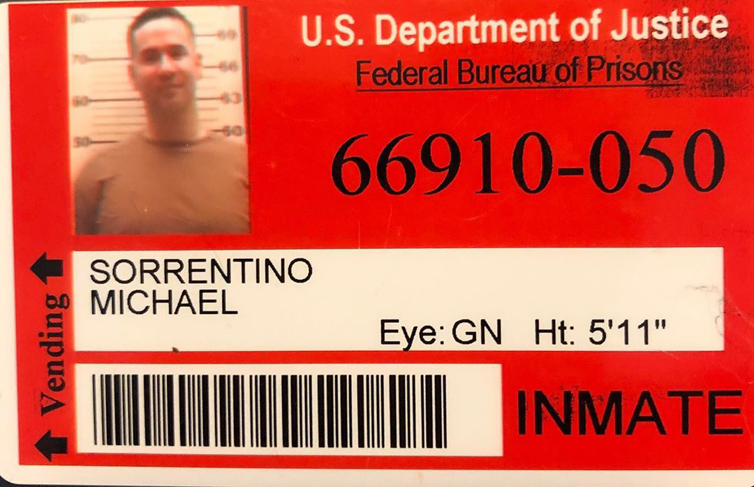 """Mike """"The Situation"""" Sorrentino prison id"""