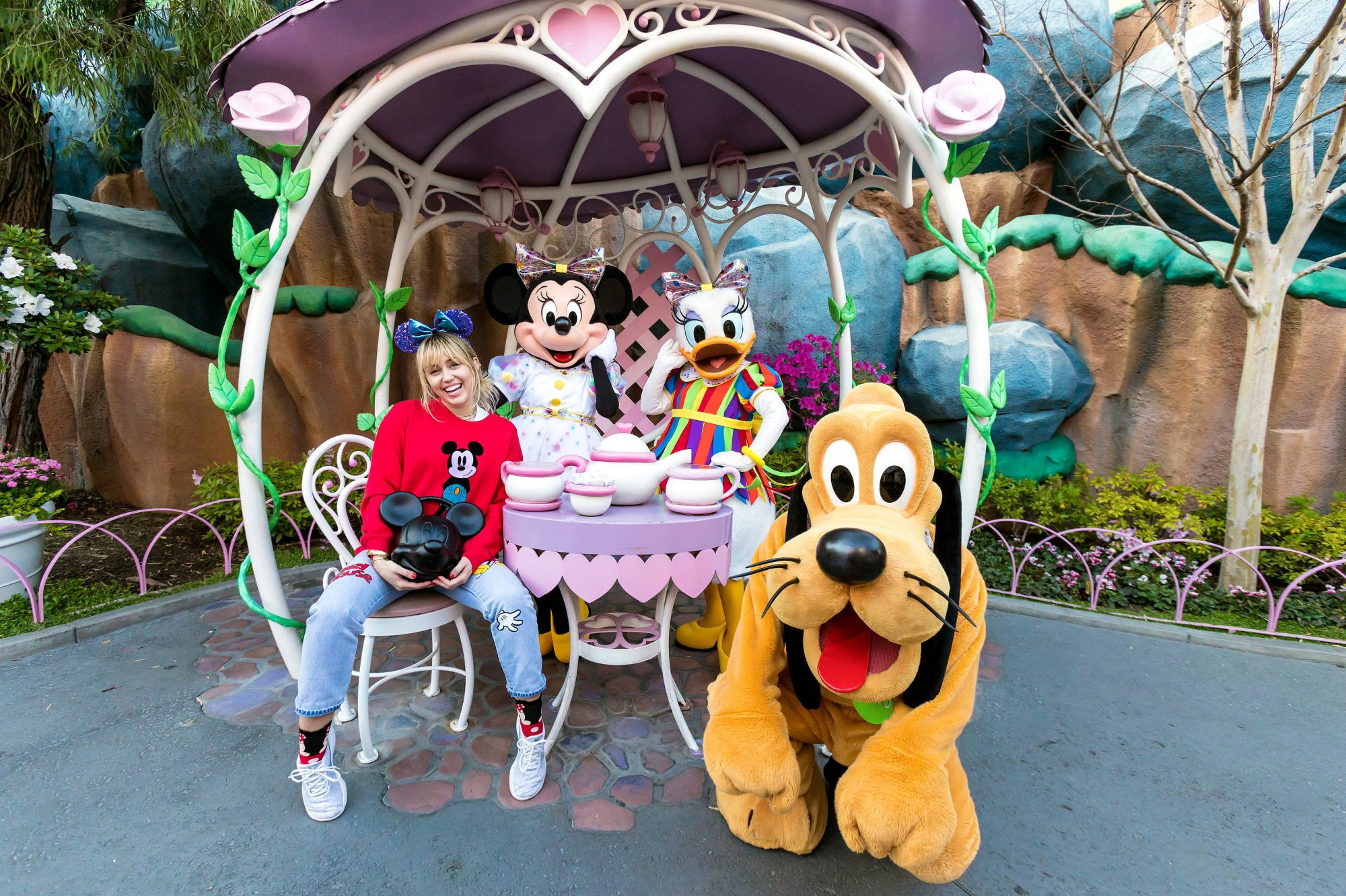 Miley Cyrus visits Disneyland Park during Get Your Ears On – A Mickey and Minnie Celebration
