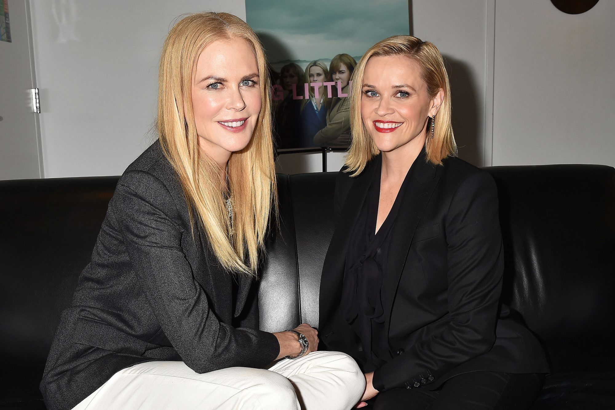 """Nicole Kidman and Reese Witherspoon attend the HBO """"Big Little Lies"""" FYC at the Hammer Museum on November 11, 2019 in Los Angeles, California"""