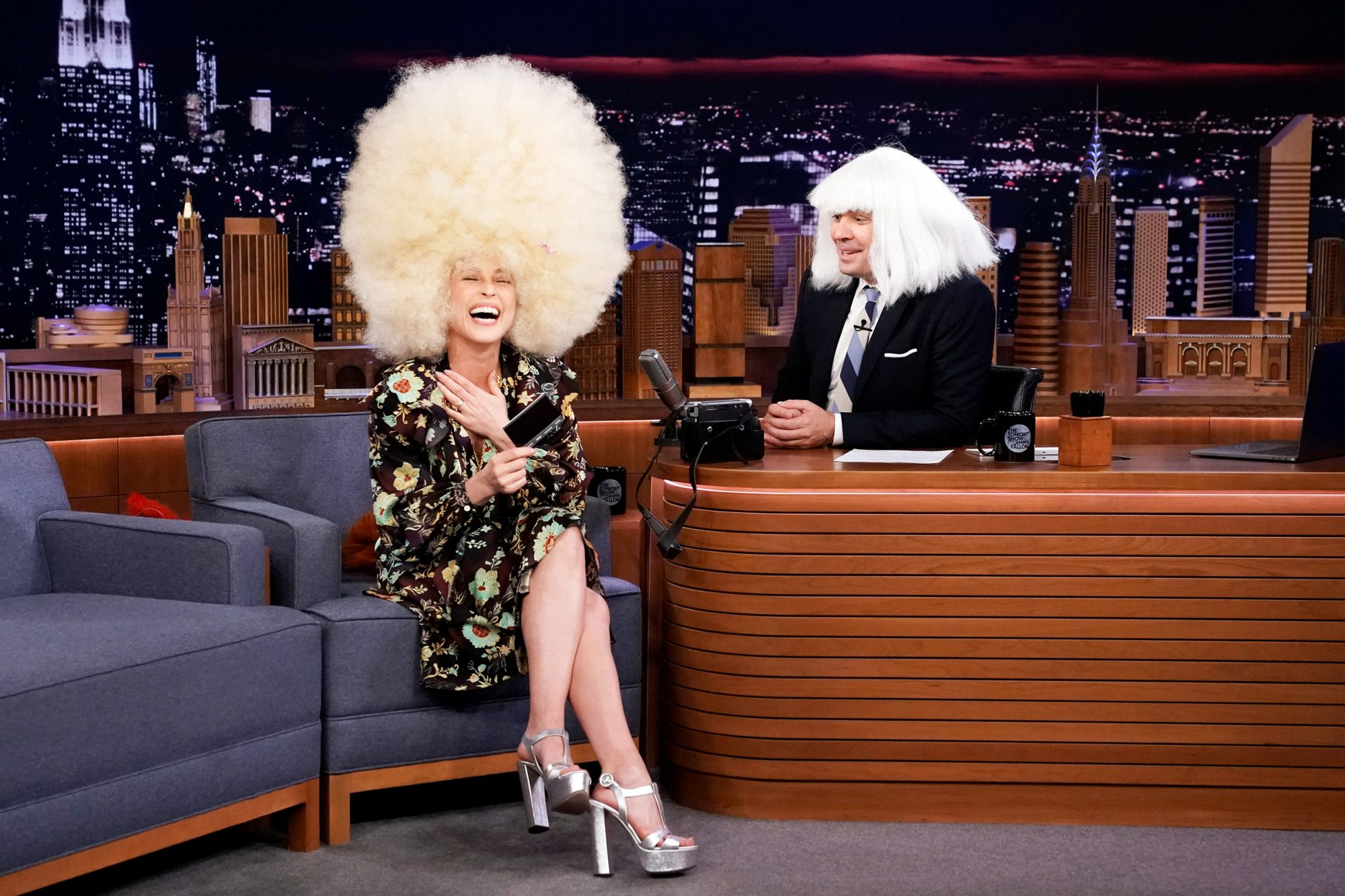 Noomi Rapace during an interview with host Jimmy Fallon on November 6, 2019