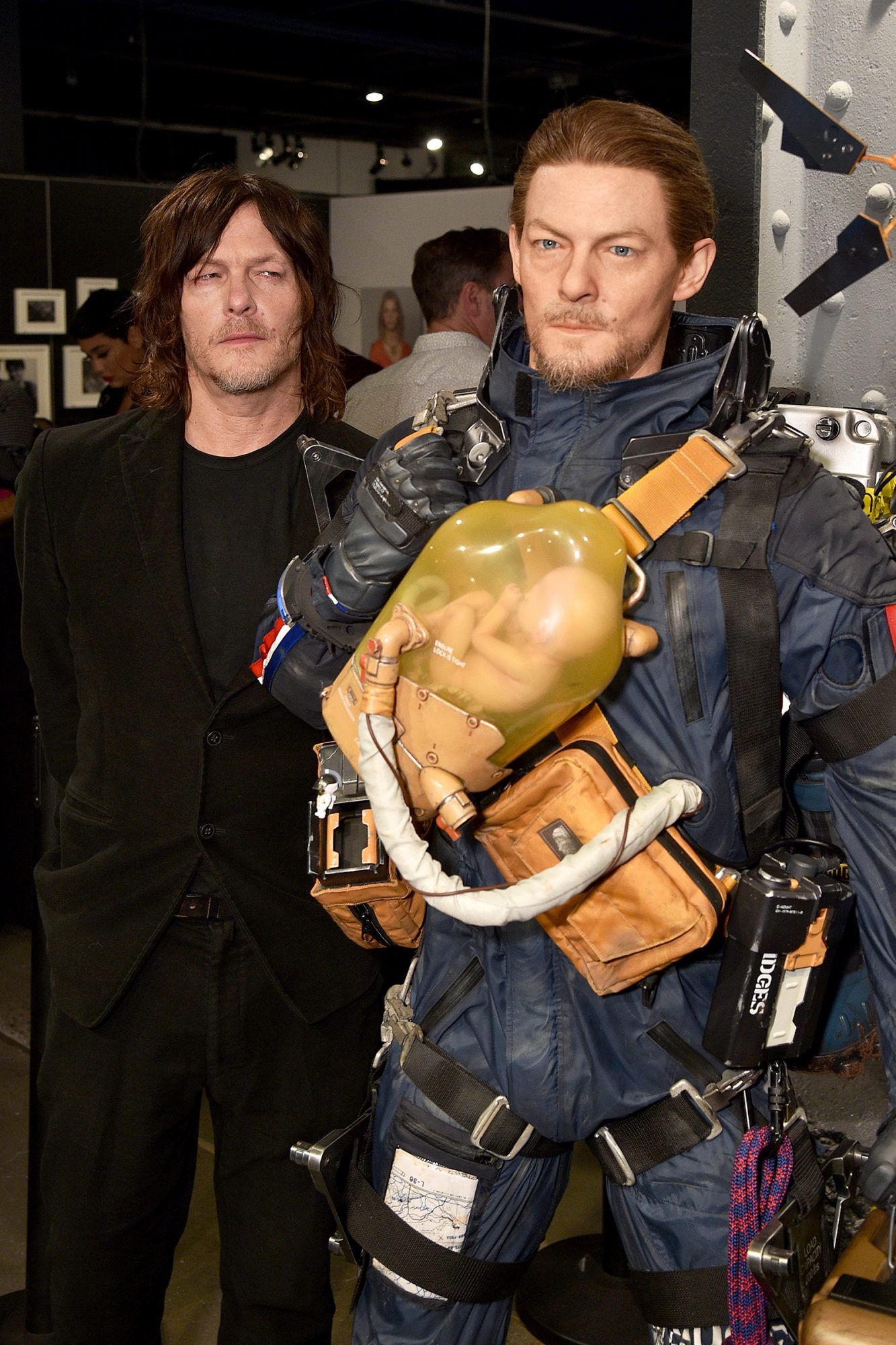 Norman Reedus attends Fractured Worlds: The Art of DEATH STRANDING on November 05, 2019 in New York City