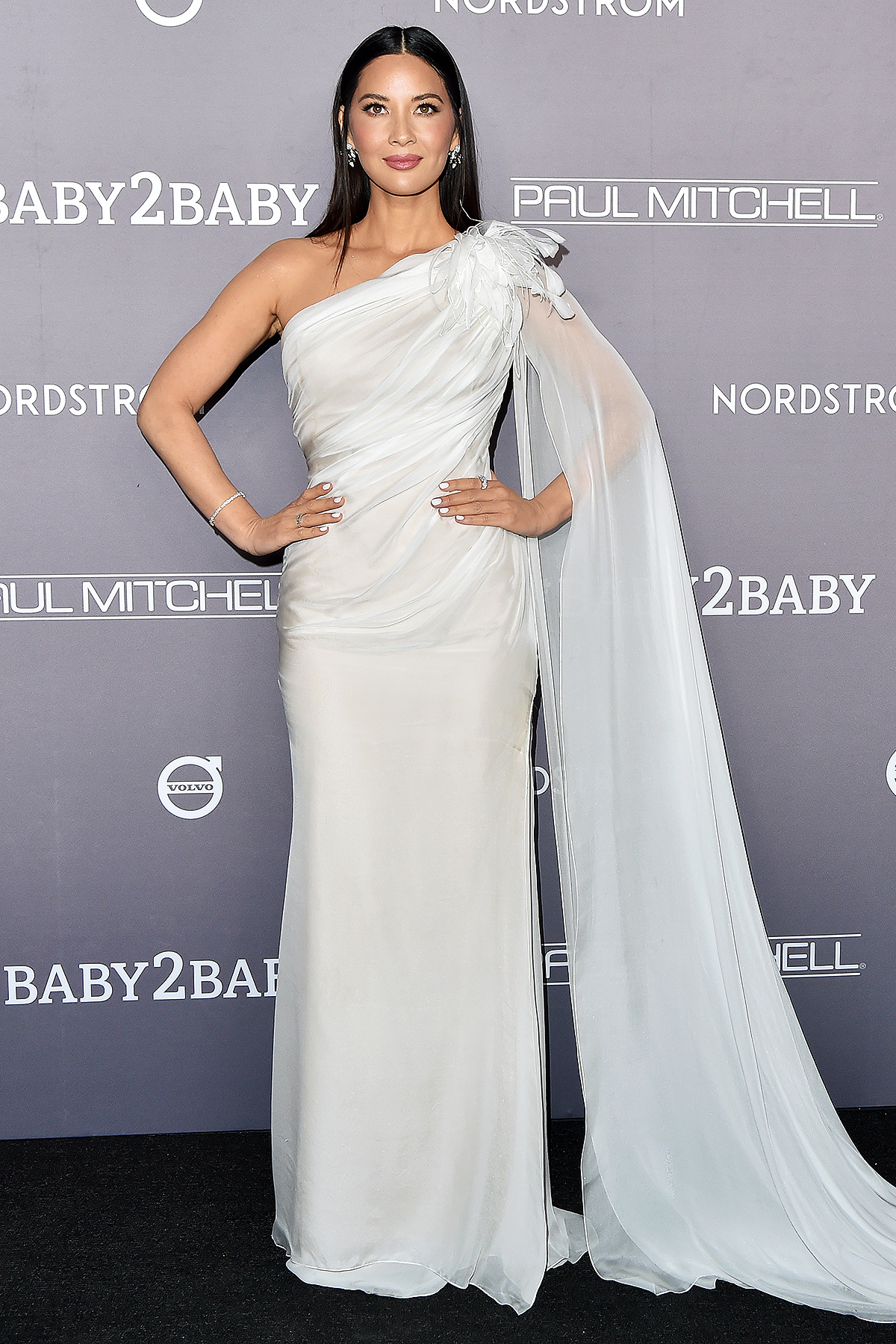 Olivia Munn attends the 2019 Baby2Baby Gala