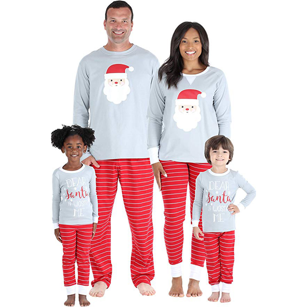 Our Family Pjs Matching Family Christmas Santa Set