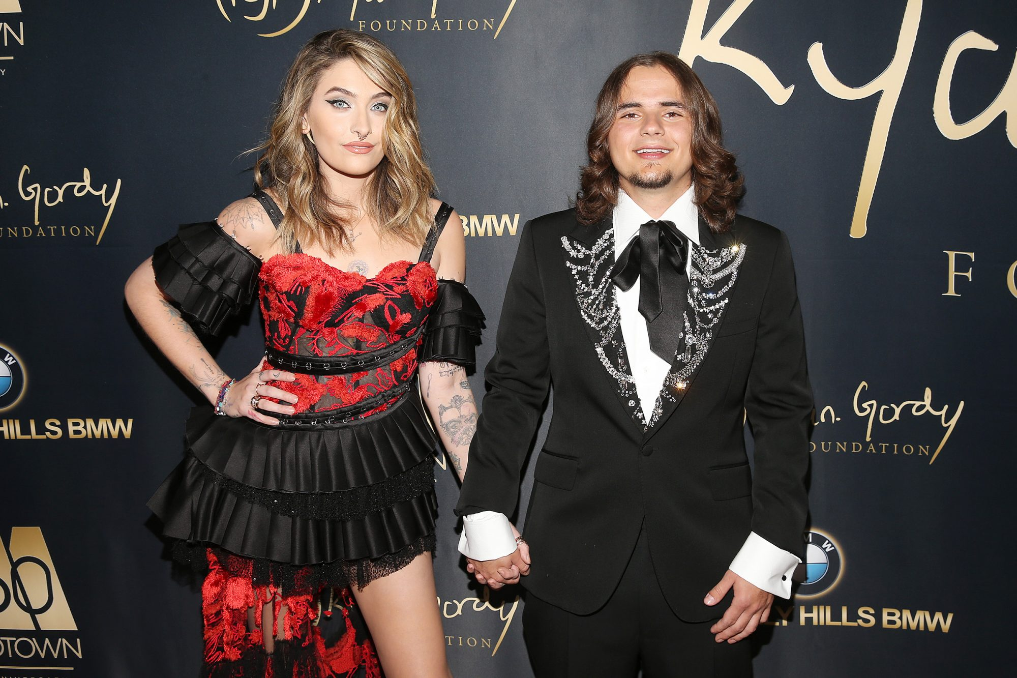 "Paris Jackson and Prince Jackson attend the Ryan Gordy Foundation ""60 Years of Motown"" Celebration at the Waldorf Astoria Beverly Hills on November 11, 2019 in Beverly Hills, California"
