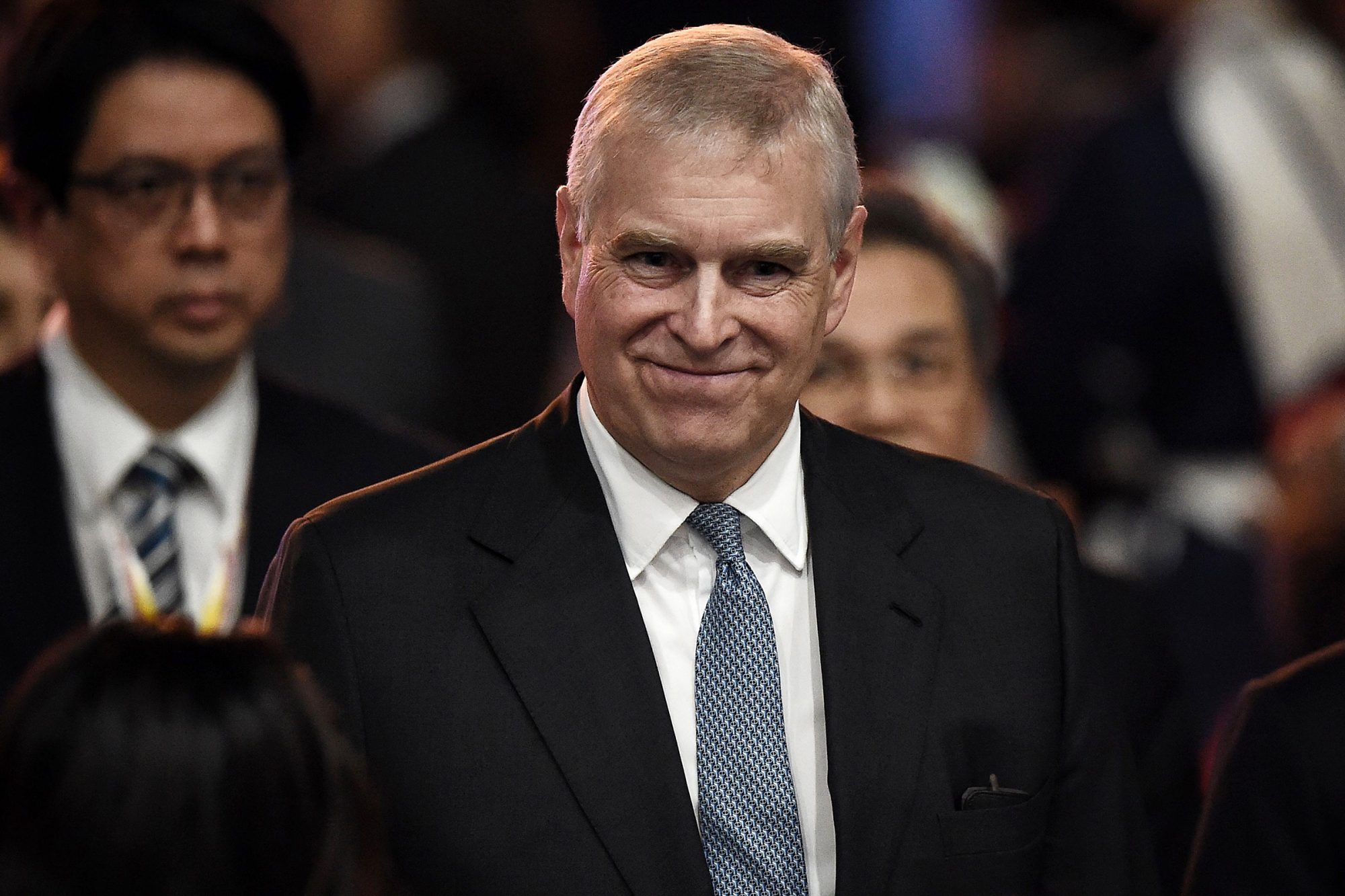 Prince Andrew, Duke of York leaves after speaking at the ASEAN Business and Investment Summit in Bangkok on November 3, 2019, on the sidelines of the 35th Association of Southeast Asian Nations