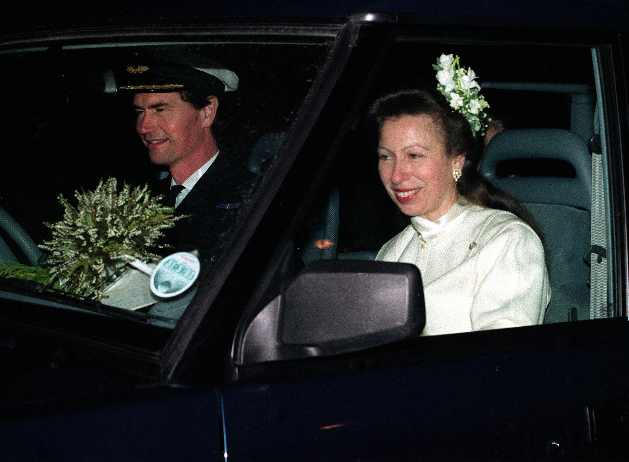 Commander Tim Laurence and the Princess Royal