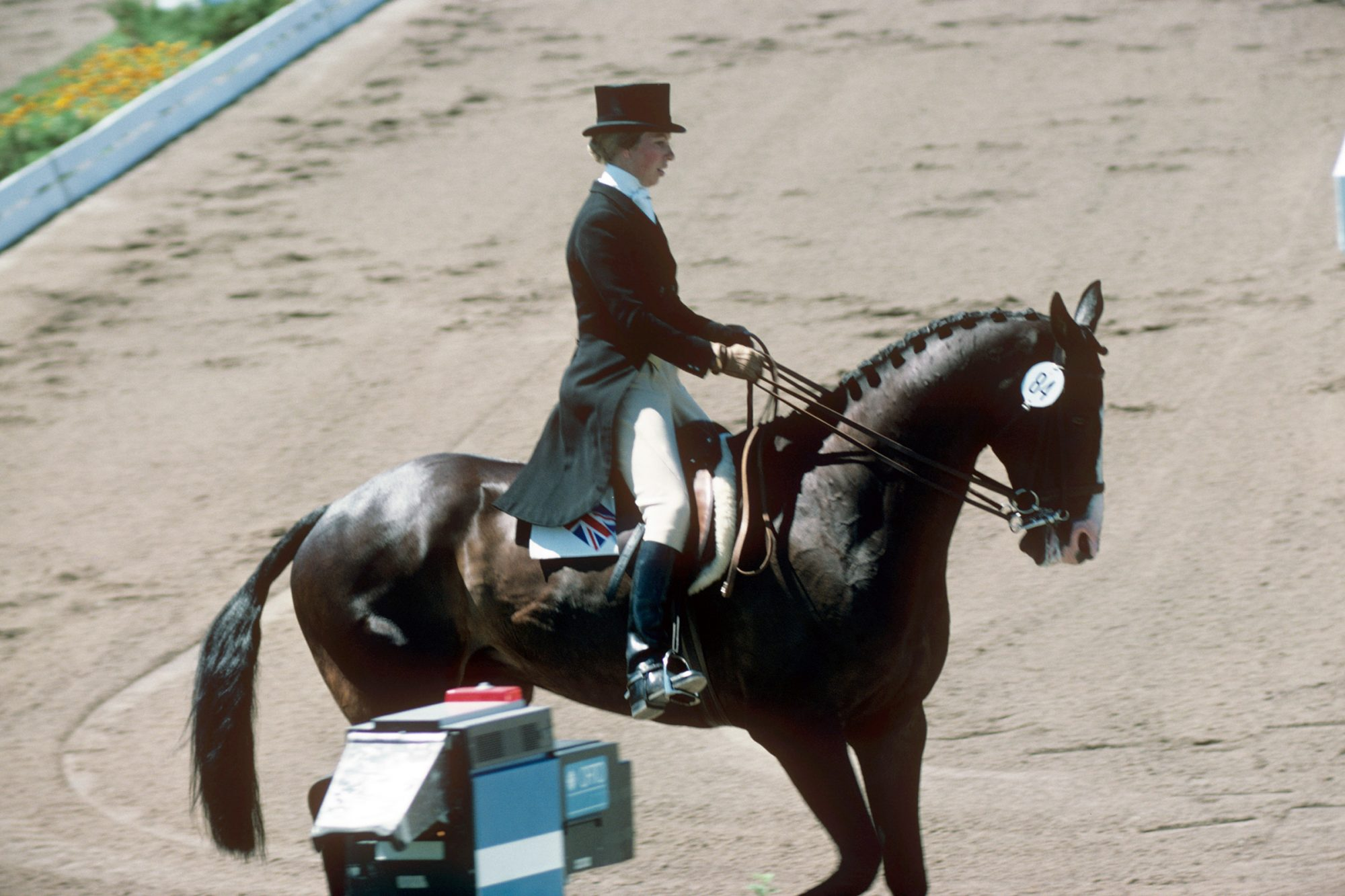 Princess Anne, on her horse, Goodwill, during the Dressage section of the Three Day Eventing, at the Montreal Olympic Games