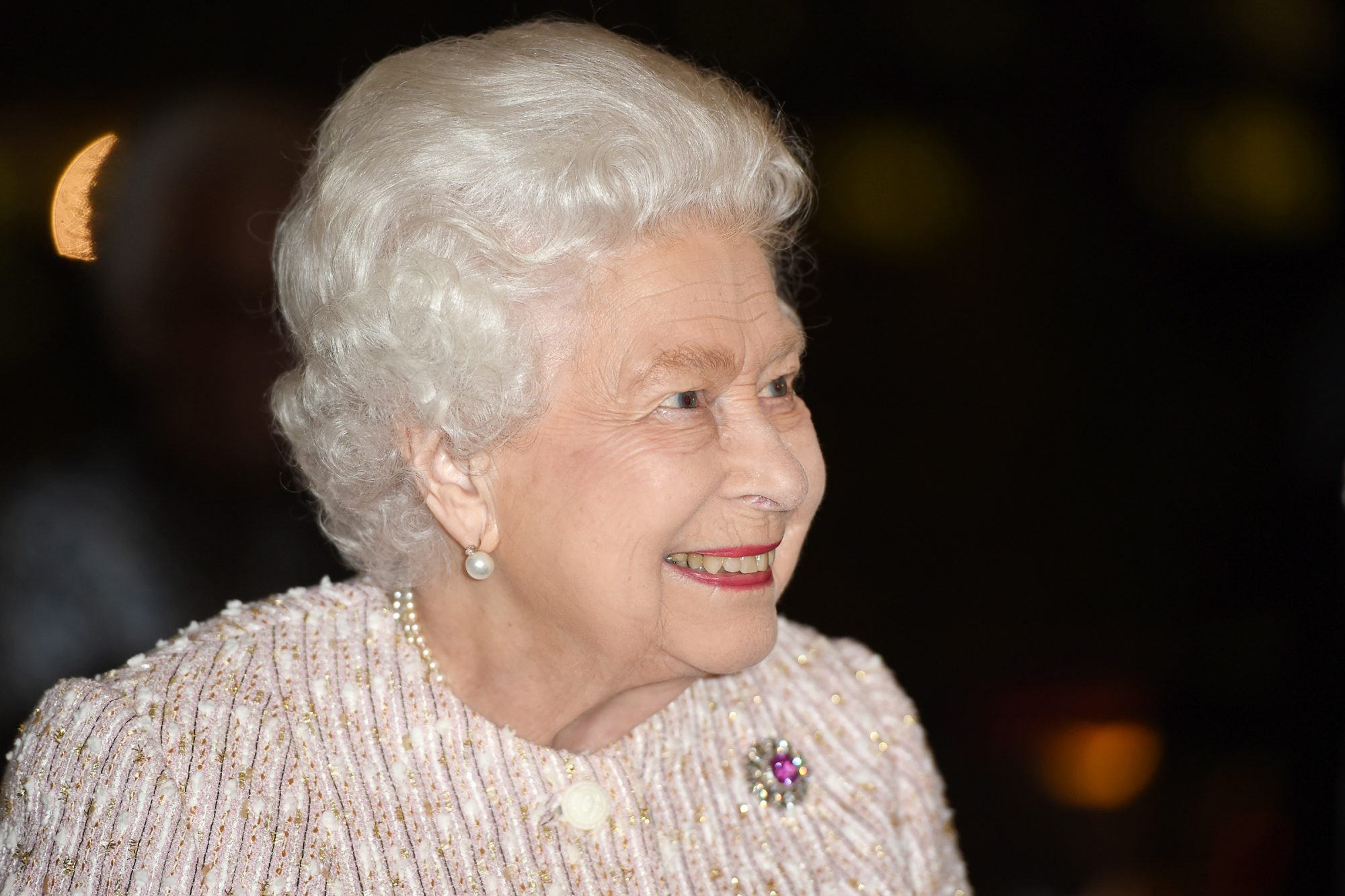 Queen Elizabeth II presents the Chatham House Prize 2019 to Sir David Attenborough (not pictured) at the Royal institute of International Affairs, Chatham House on November 20, 2019 in London Colney