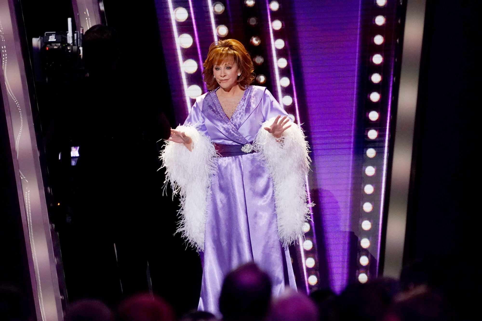 Reba McEntire performs onstage at the 53rd annual CMA Awards at the Bridgestone Arena on November 13, 2019 in Nashville, Tennessee