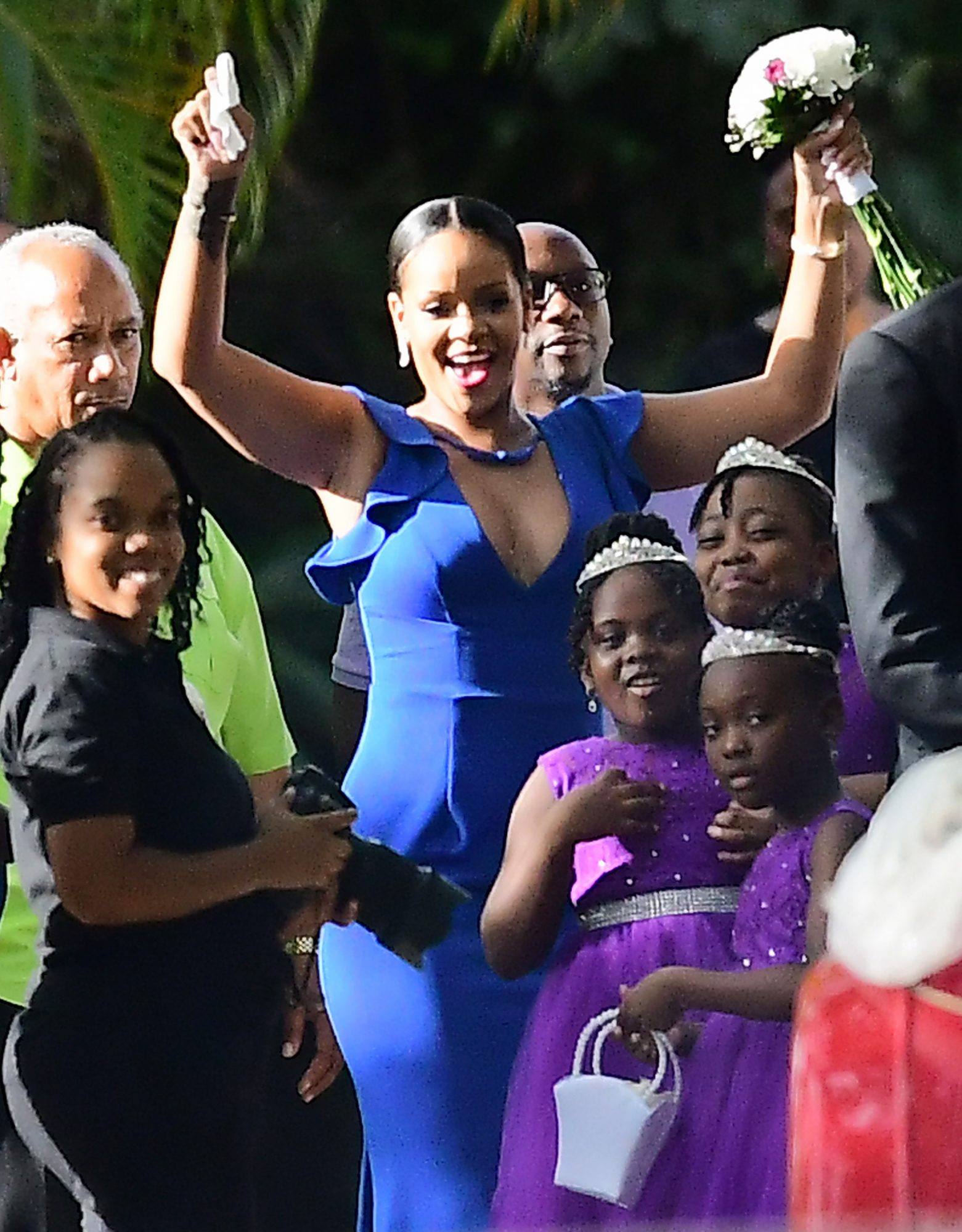 EXCLUSIVE: Rihanna stuns at her best friend's wedding in Barbados